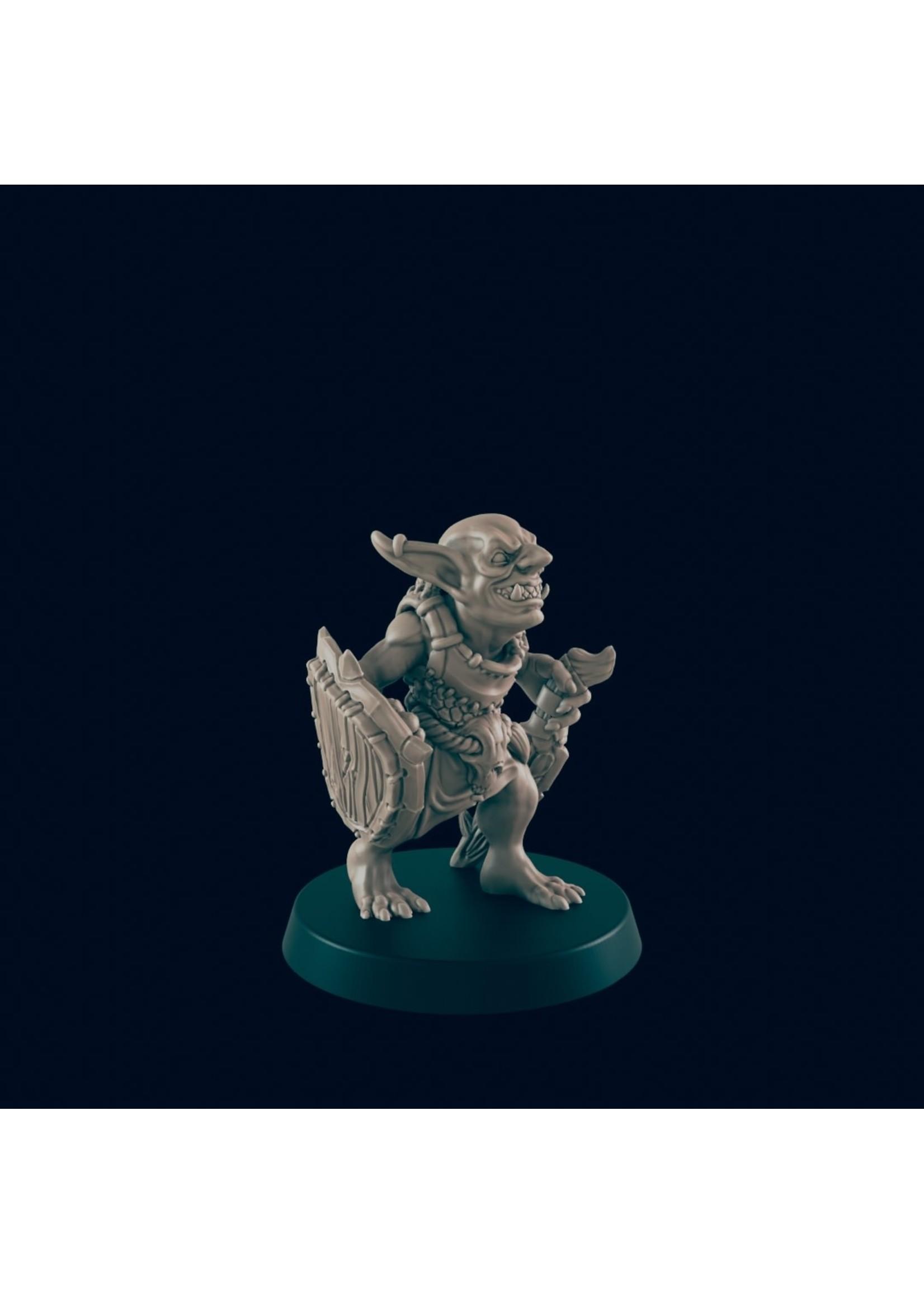 3D Printed Miniature - Goblin Warrior 1 - Dungeons & Dragons - Beasts and Baddies KS