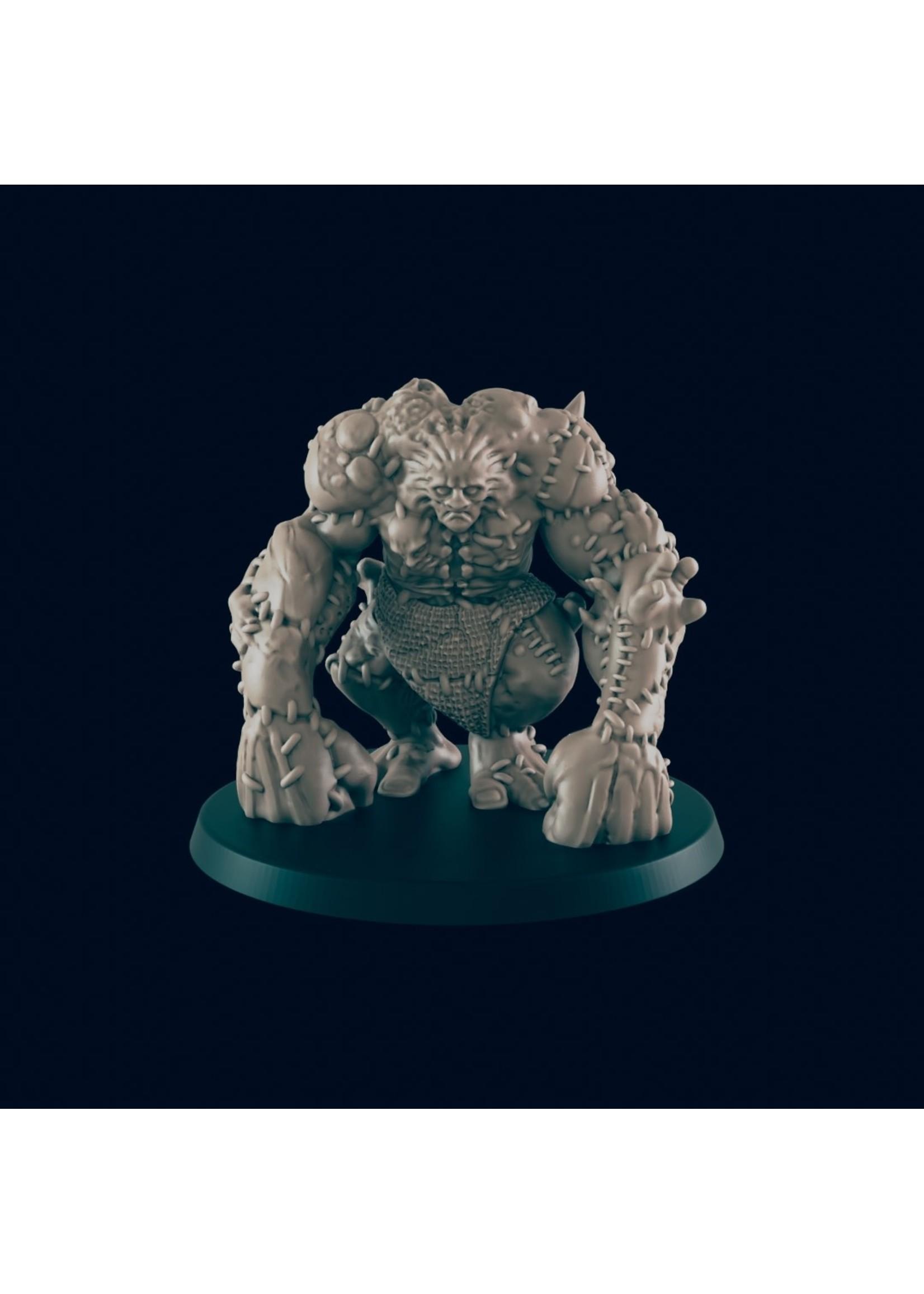 3D Printed Miniature - Flesh Golem - Dungeons & Dragons - Beasts and Baddies KS