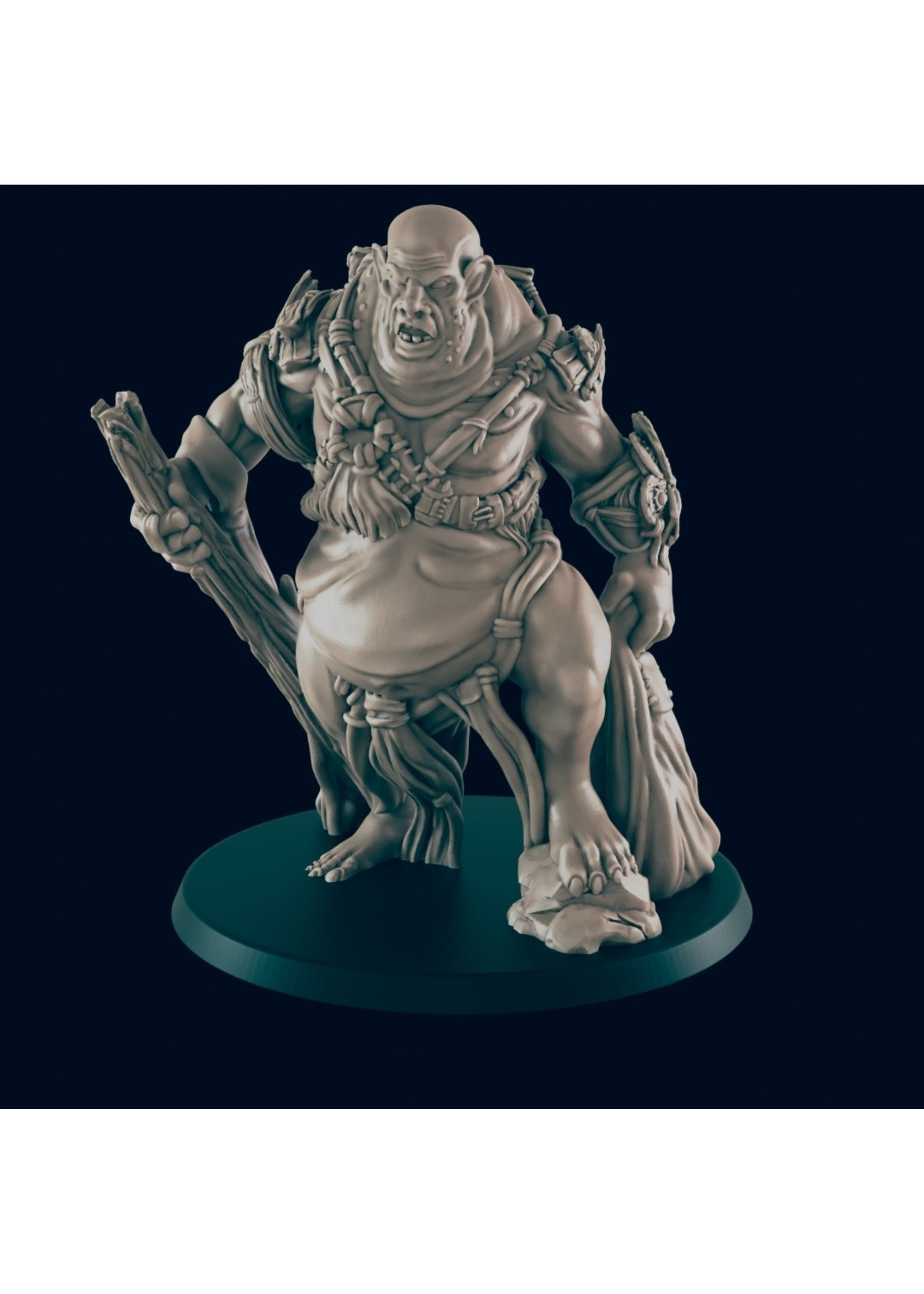 3D Printed Miniature - Hill Giant Male - Dungeons & Dragons - Beasts and Baddies KS