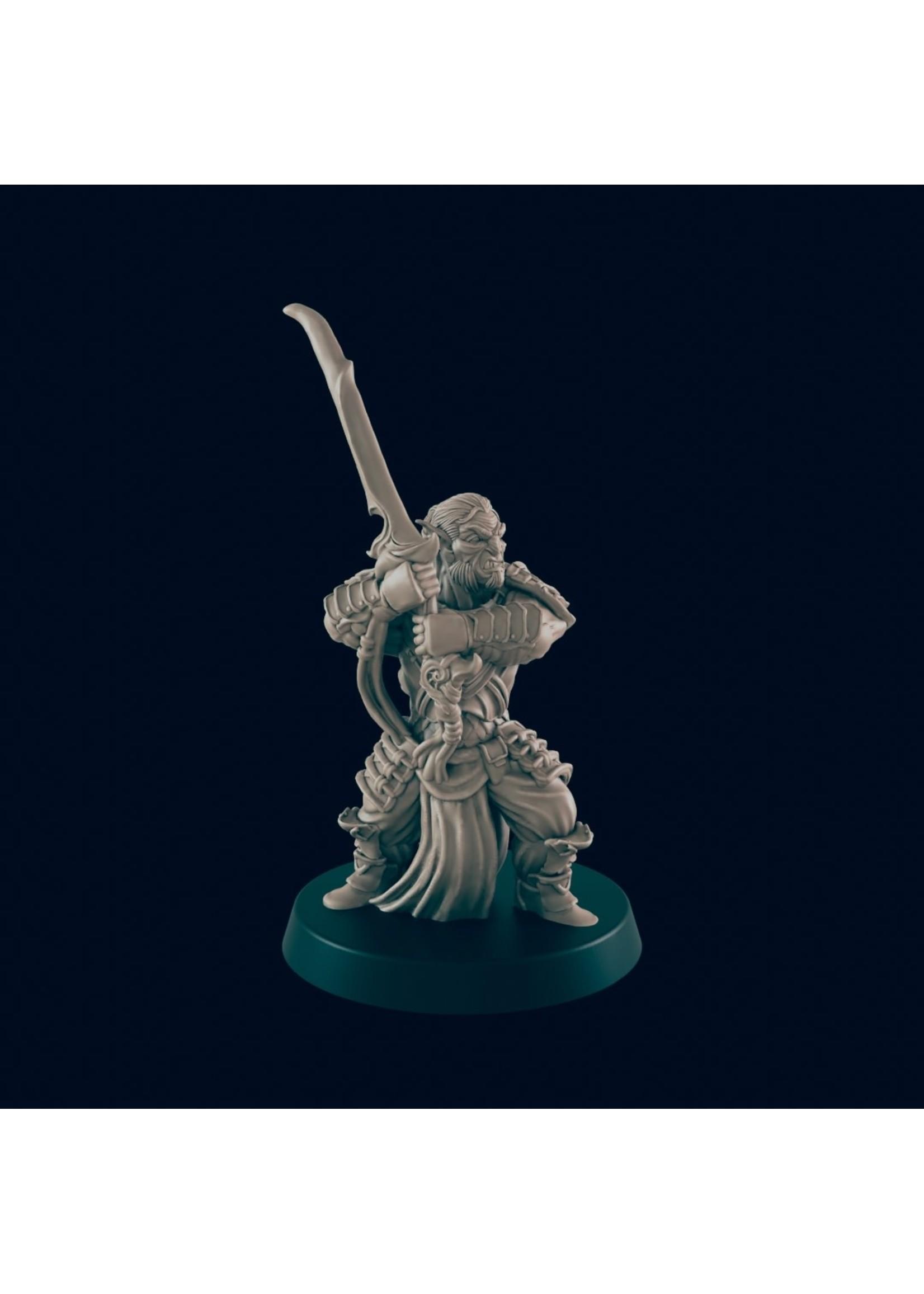 3D Printed Miniature - Hobgoblin 1 - Dungeons & Dragons - Beasts and Baddies KS