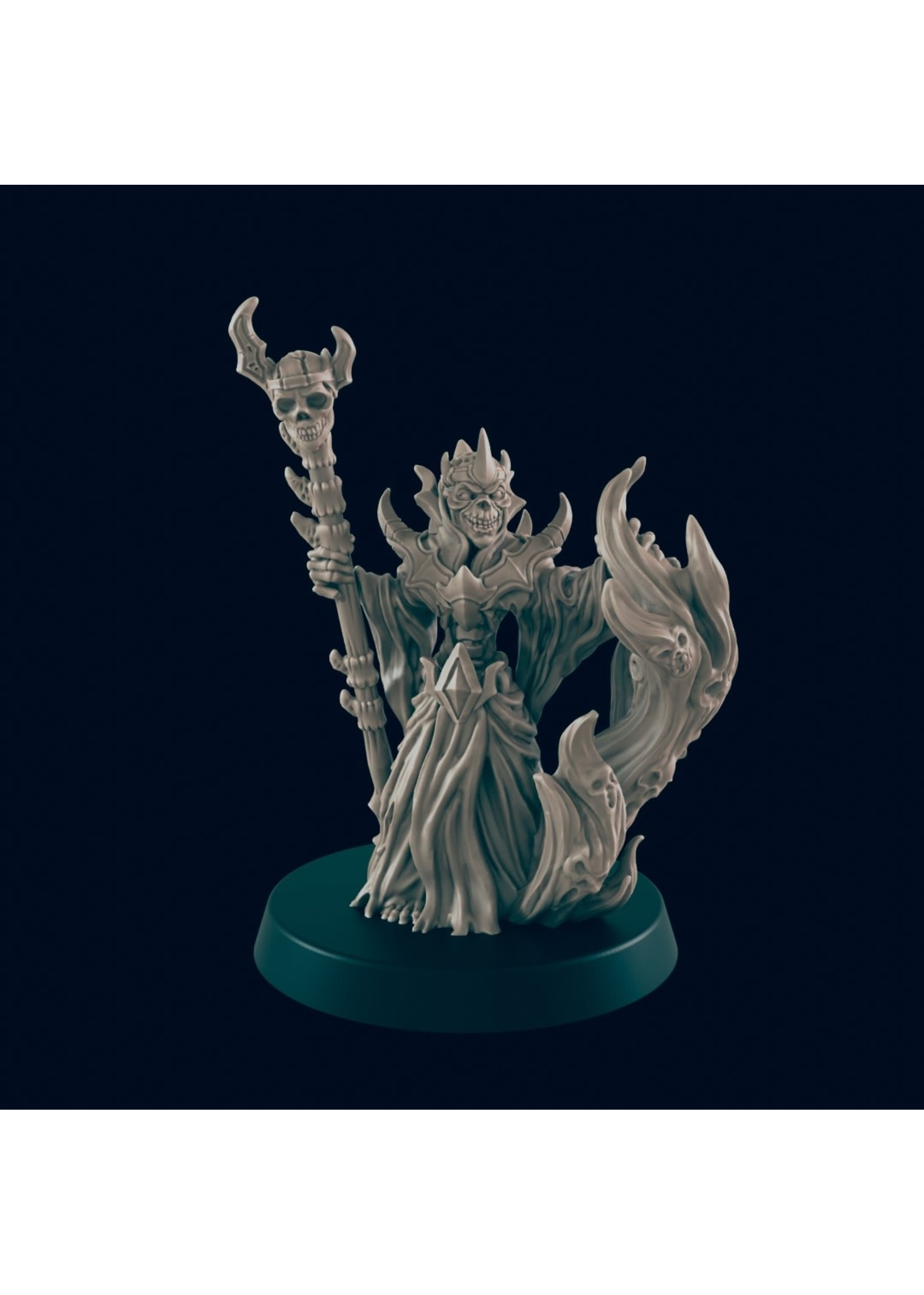 3D Printed Miniature - Lich - Dungeons & Dragons - Beasts and Baddies KS