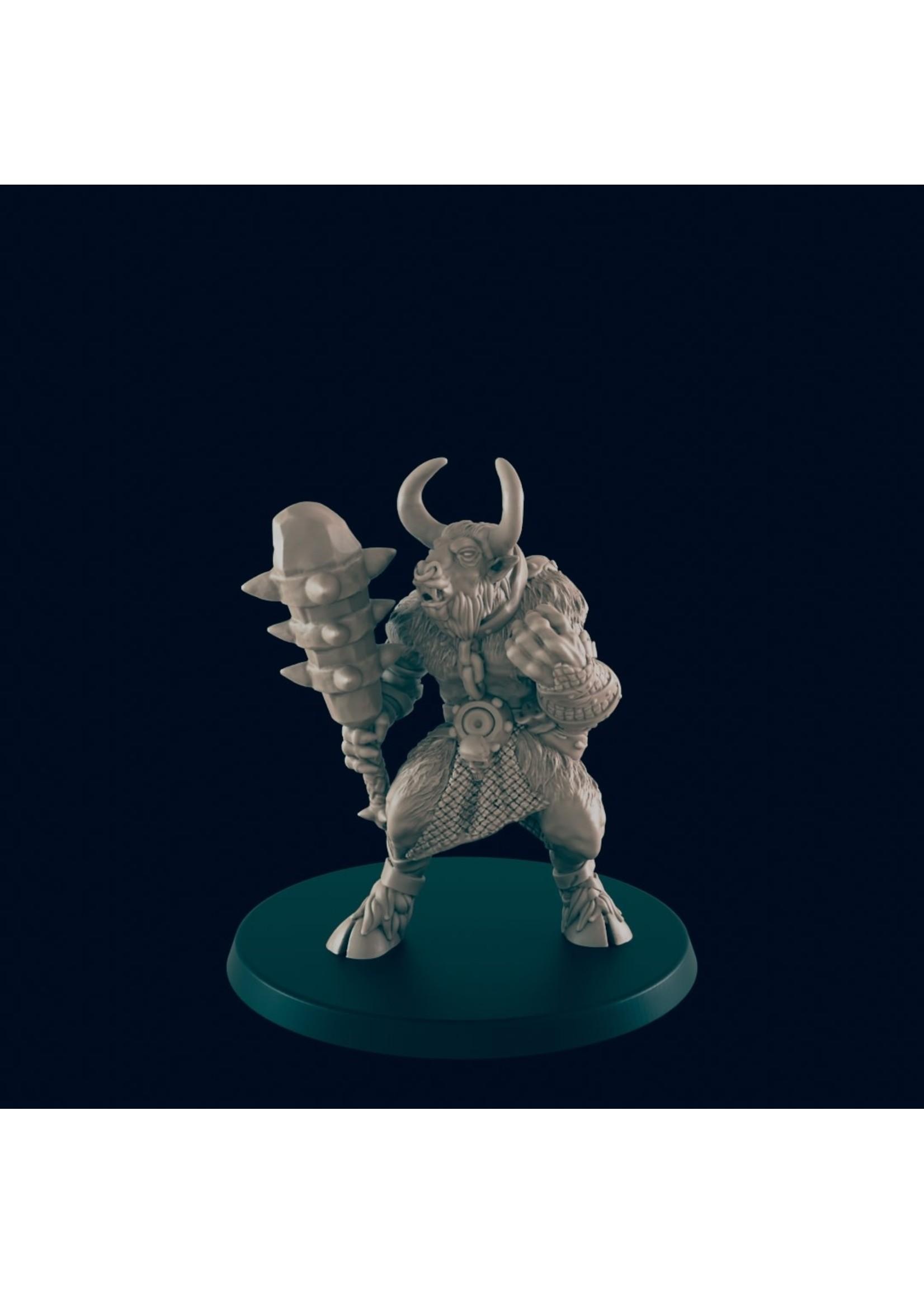 3D Printed Miniature - Minotaur - Dungeons & Dragons - Beasts and Baddies KS