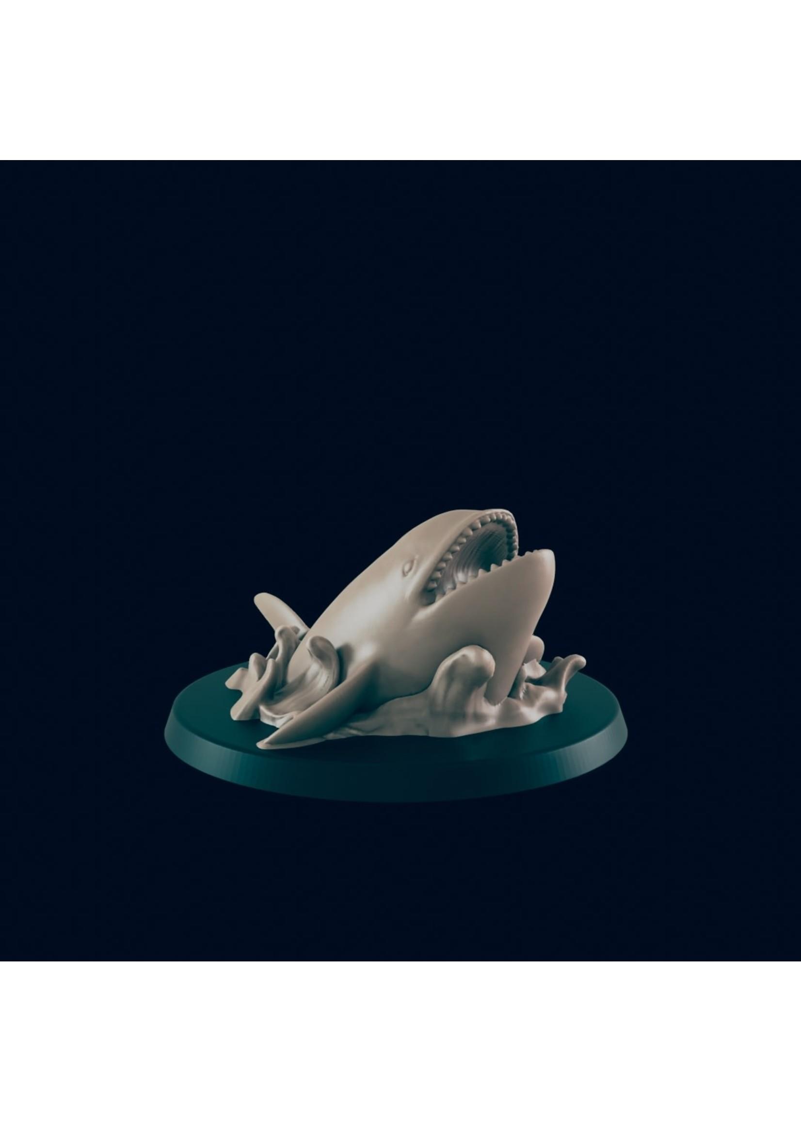 3D Printed Miniature - Orca - Dungeons & Dragons - Beasts and Baddies KS