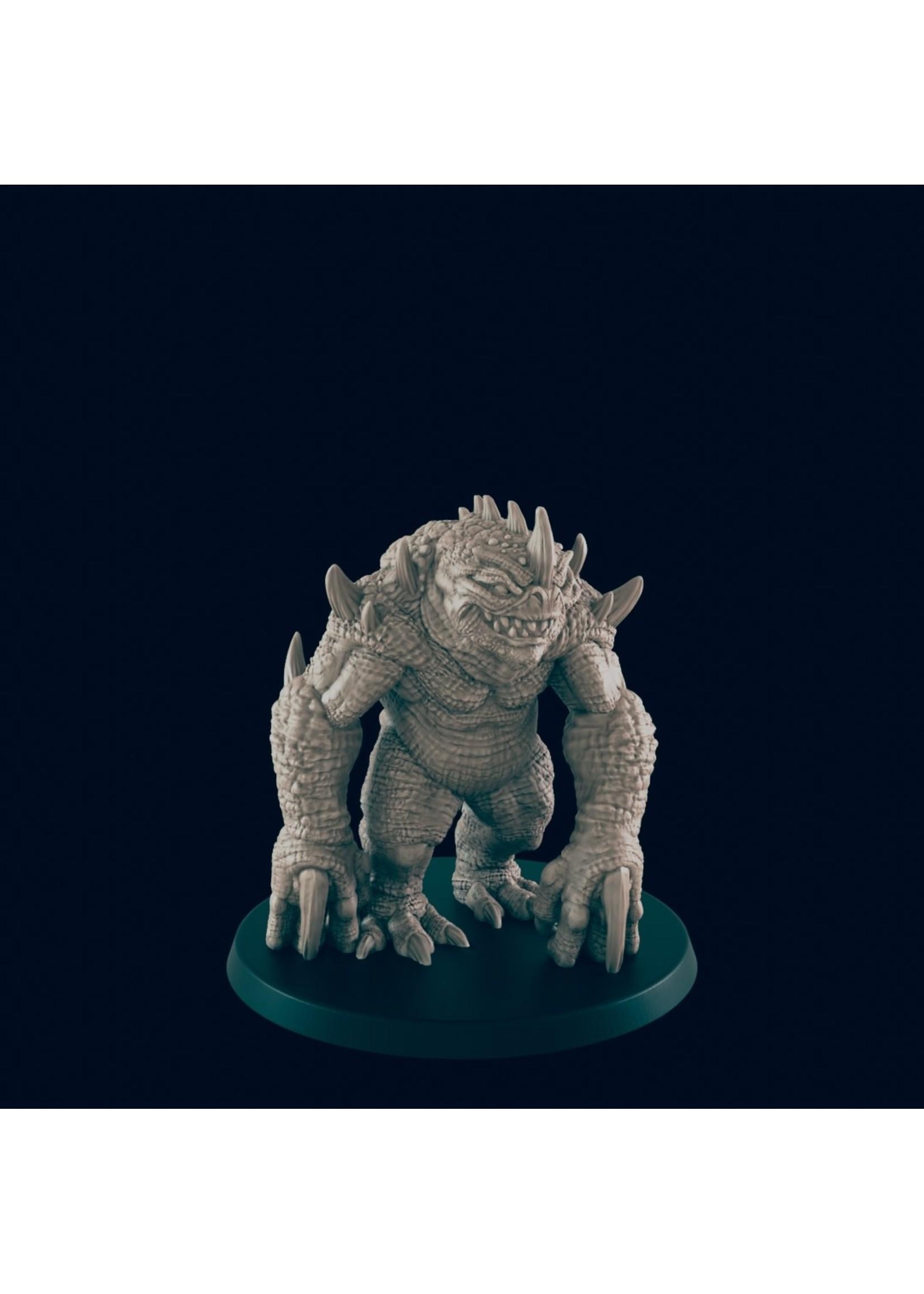 3D Printed Miniature - Blue Slaad - Dungeons & Dragons - Beasts and Baddies KS
