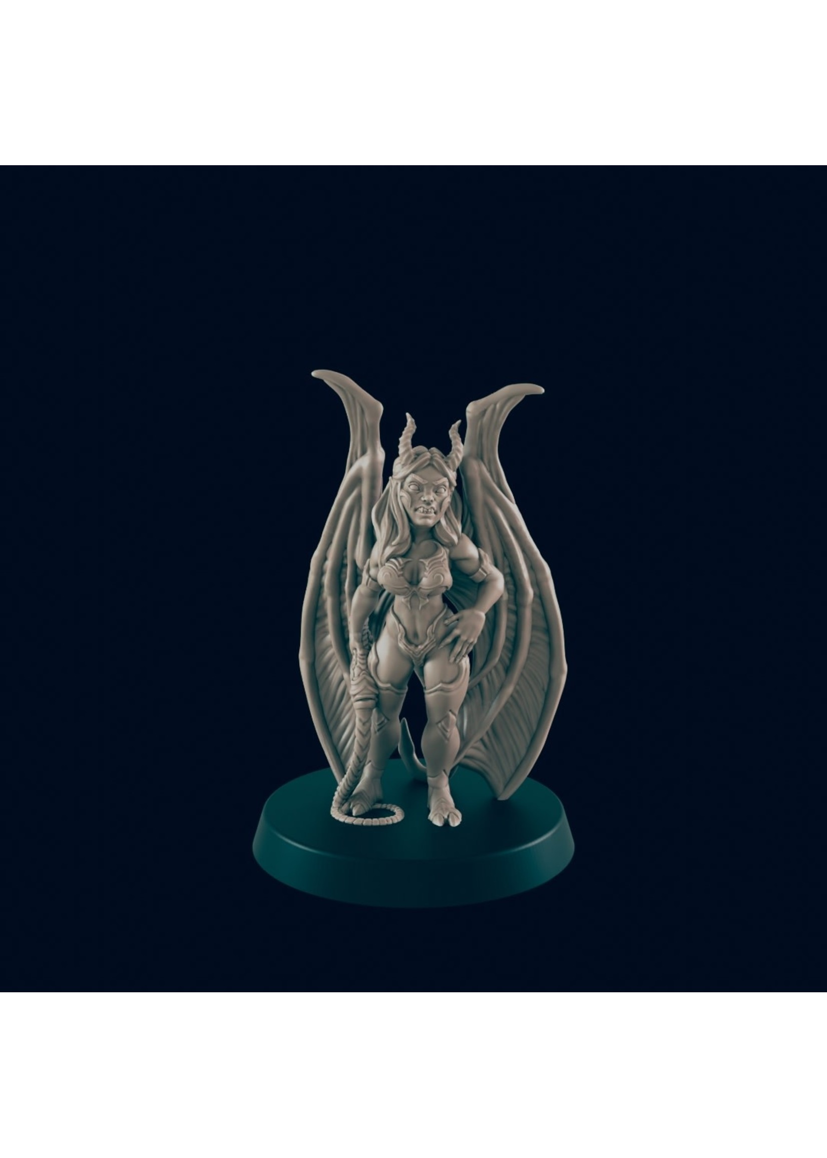 3D Printed Miniature - Succubus - Dungeons & Dragons - Beasts and Baddies KS