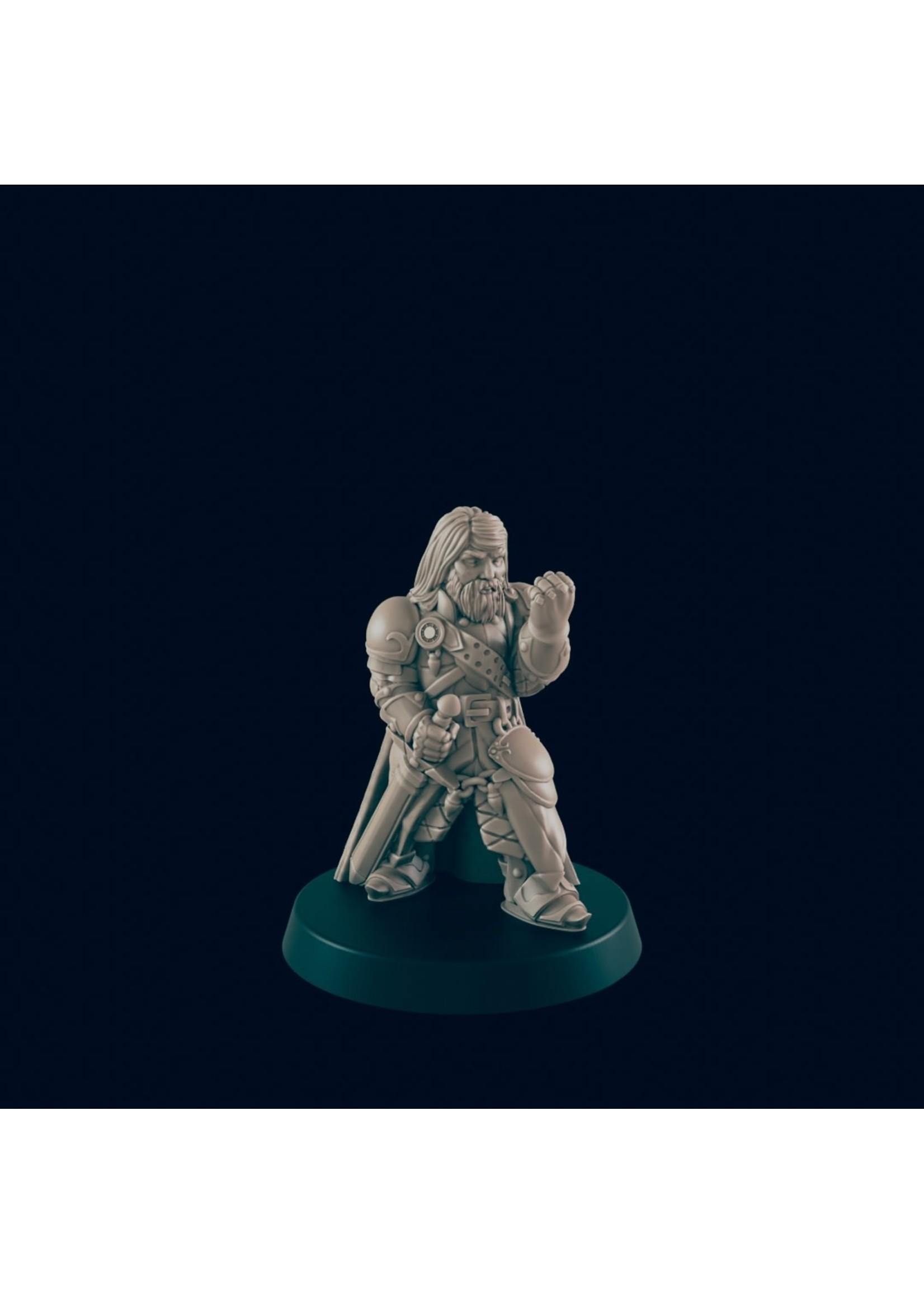 3D Printed Miniature - Guard Captain - Dungeons & Dragons - Beasts and Baddies KS