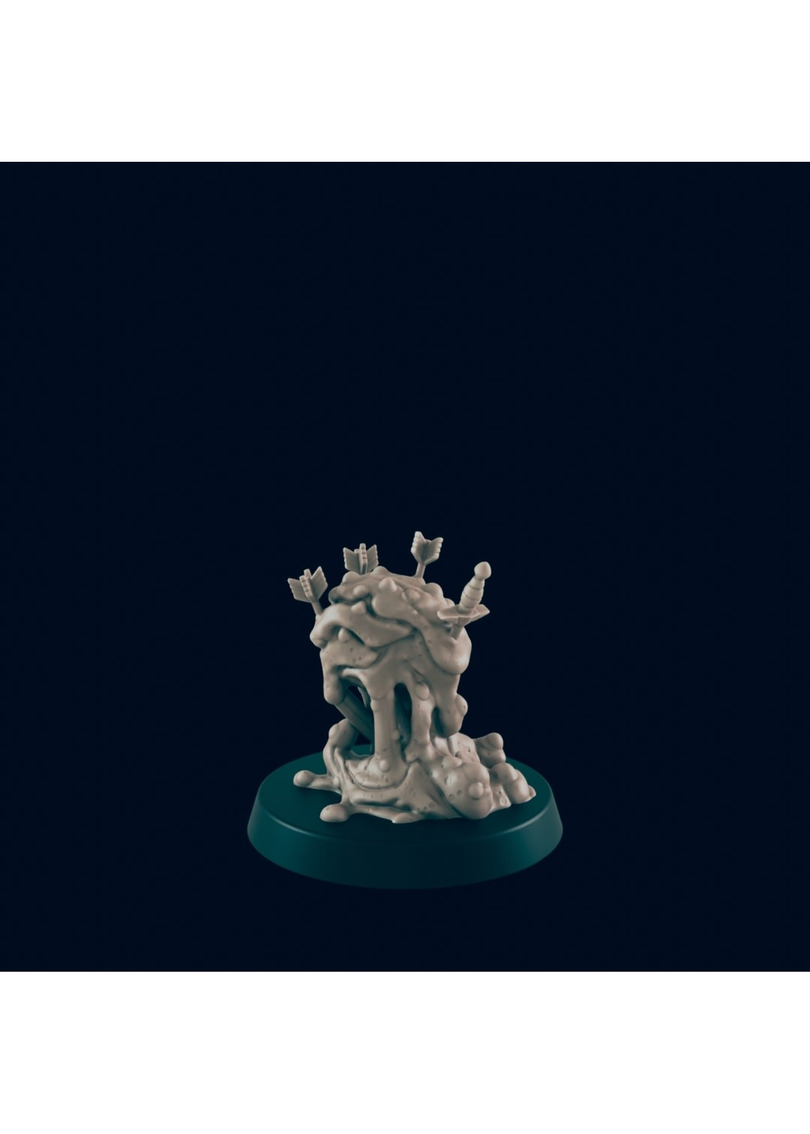 3D Printed Miniature - Ooze 2 - Dungeons & Dragons - Beasts and Baddies KS