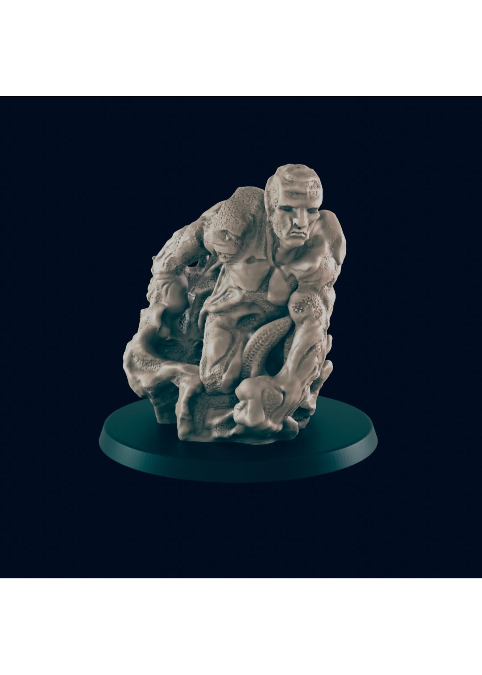 3D Printed Miniature - Sand Golem - Dungeons & Dragons - Beasts and Baddies KS