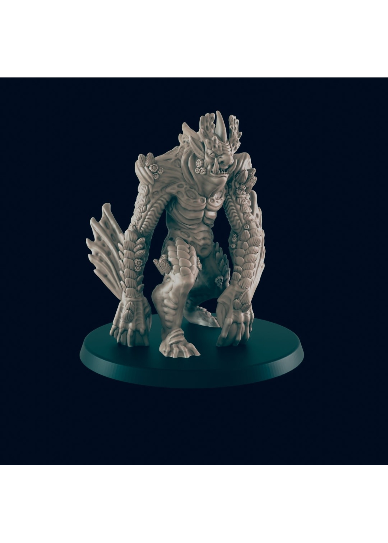 3D Printed Miniature - Sea Troll - Dungeons & Dragons - Beasts and Baddies KS