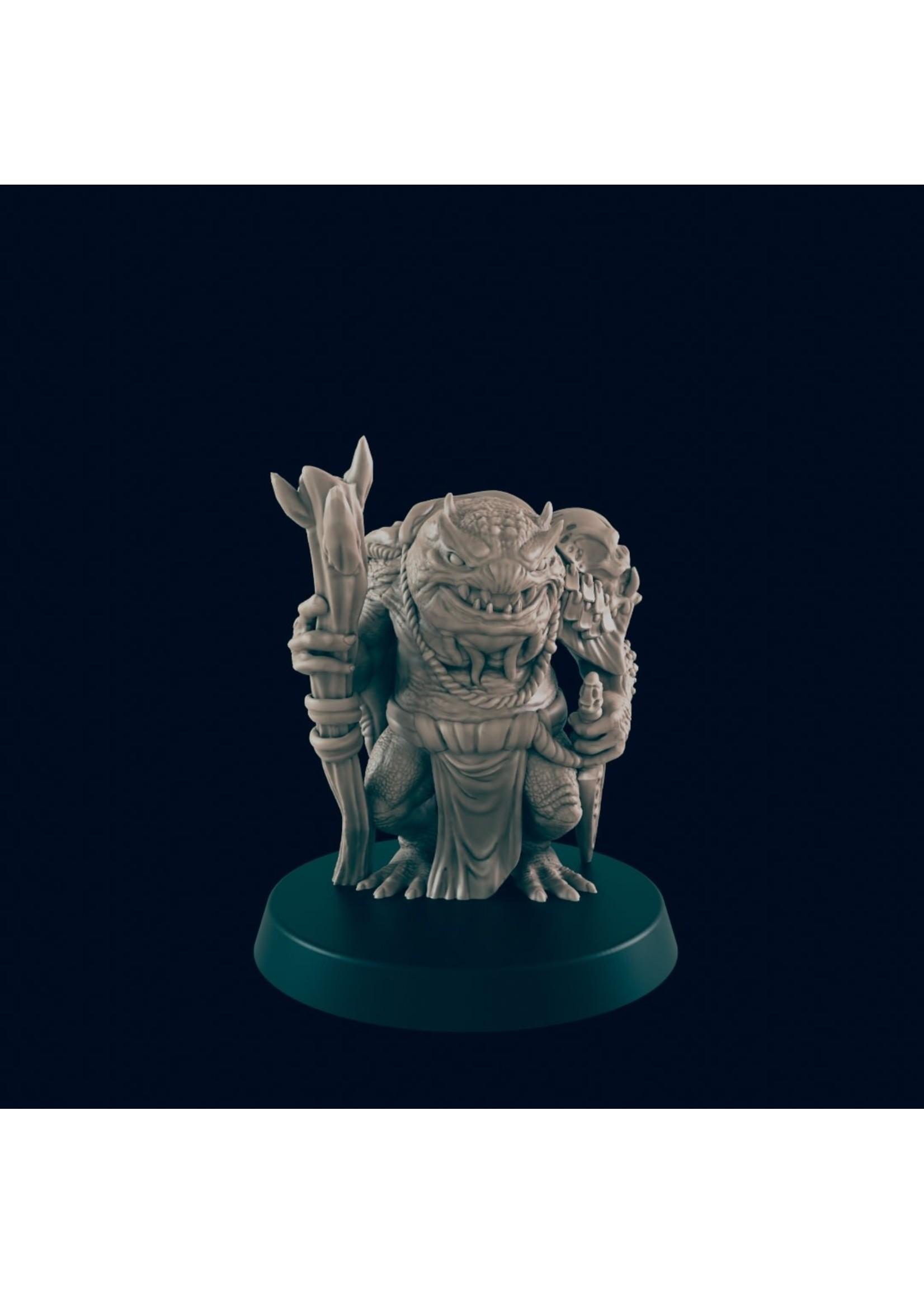 3D Printed Miniature - Green Slaad - Dungeons & Dragons - Beasts and Baddies KS