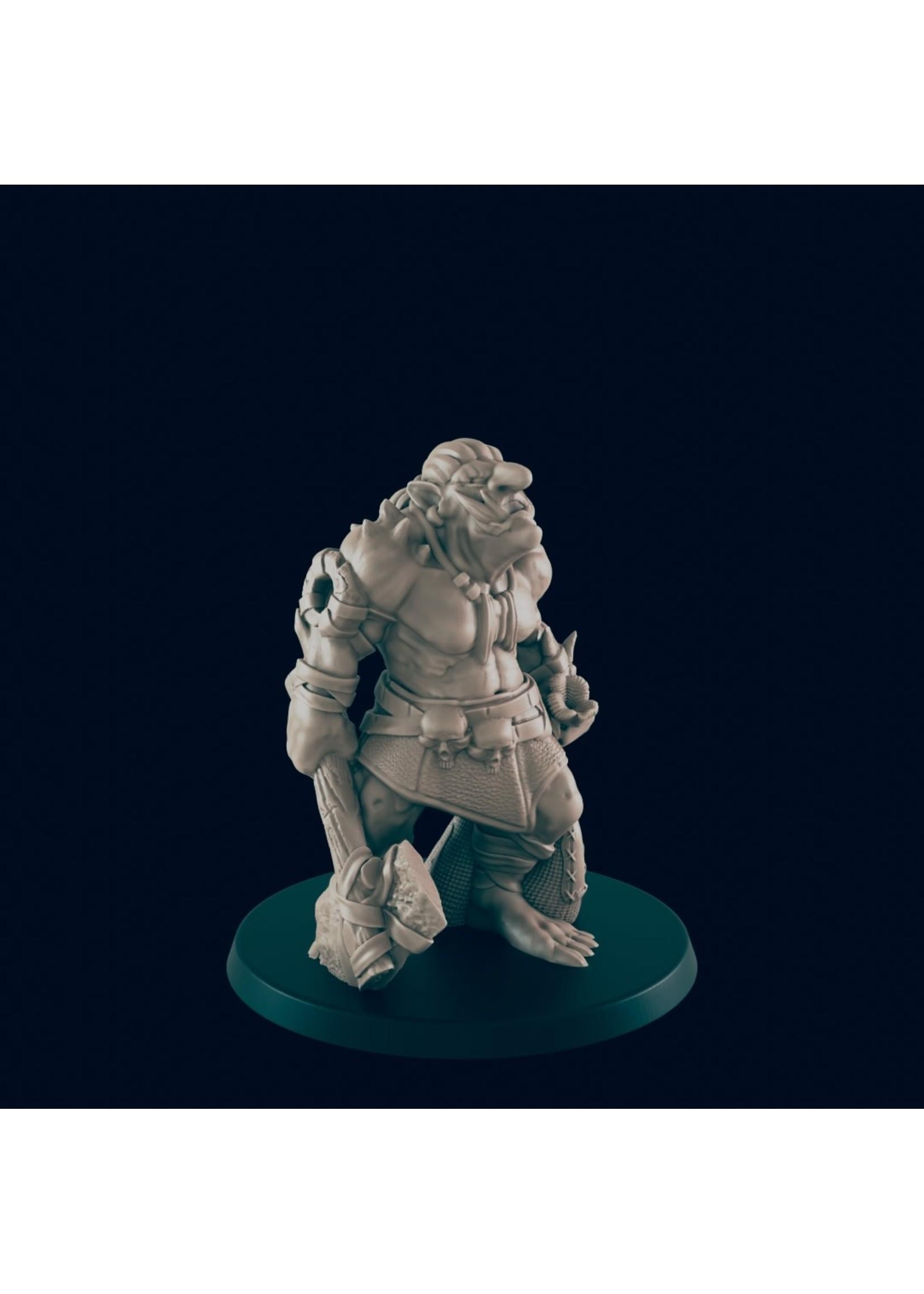 3D Printed Miniature - Troll B - Dungeons & Dragons - Beasts and Baddies KS