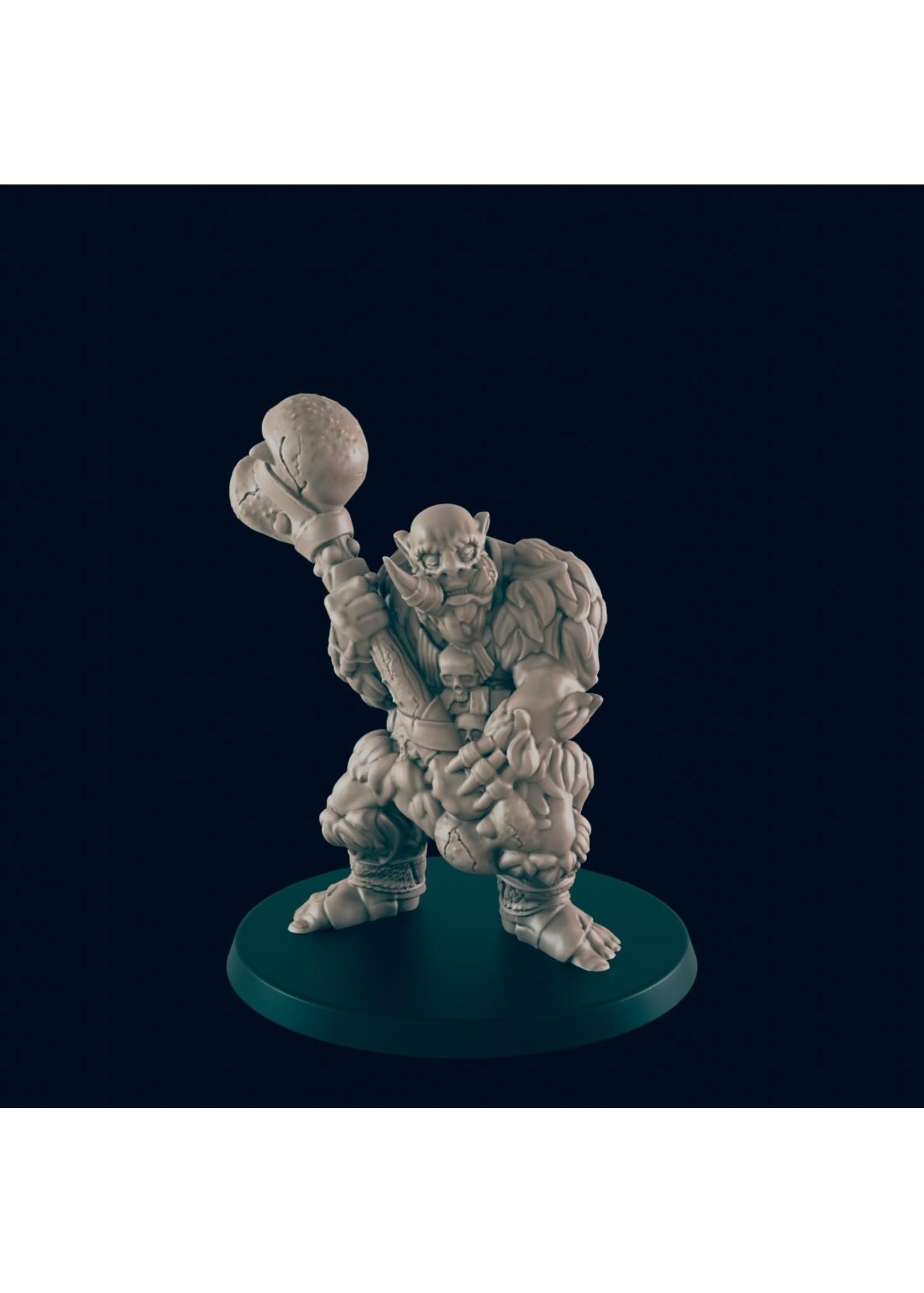 3D Printed Miniature - Troll A - Dungeons & Dragons - Beasts and Baddies KS