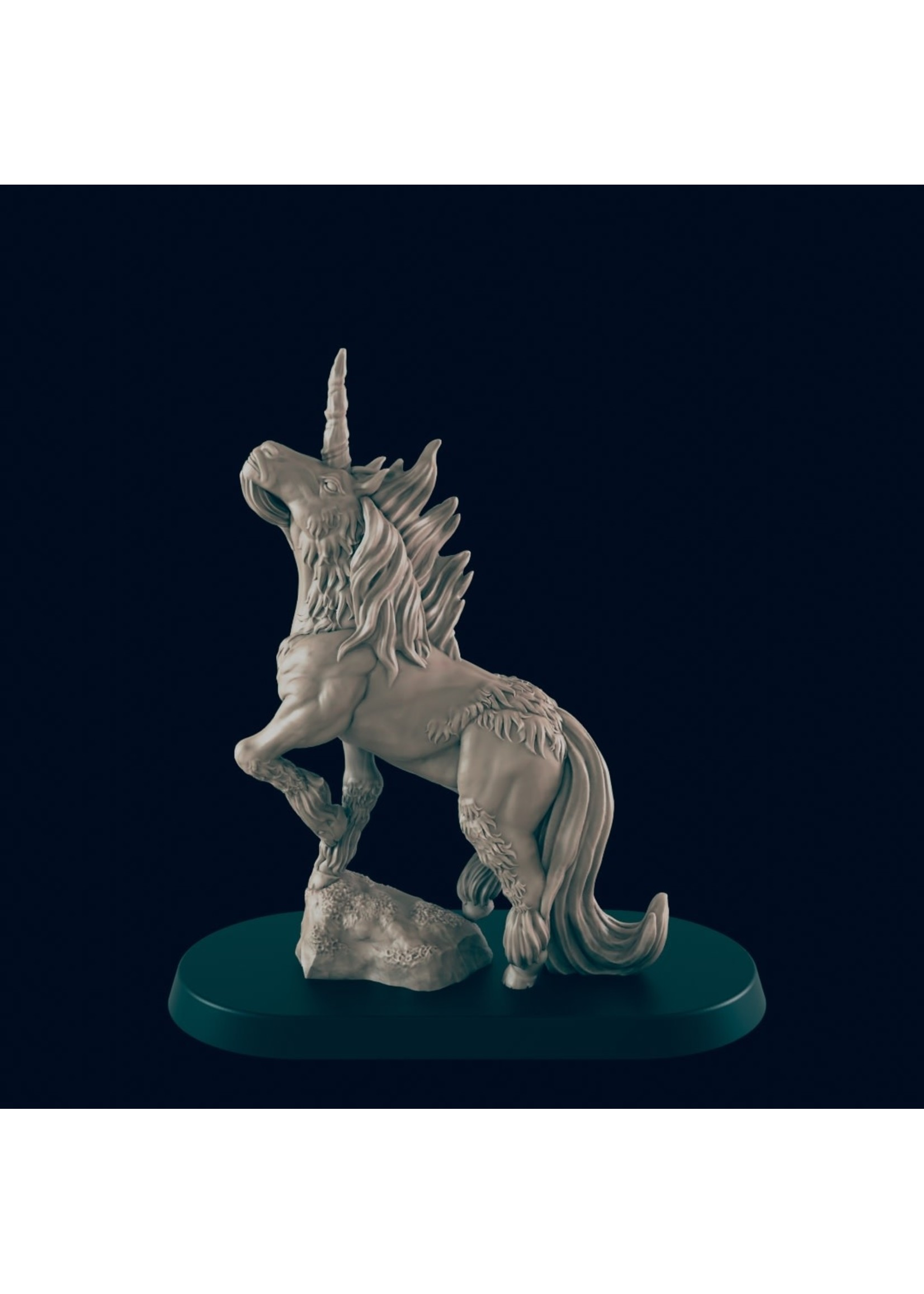 3D Printed Miniature - Unicorn - Dungeons & Dragons - Beasts and Baddies KS