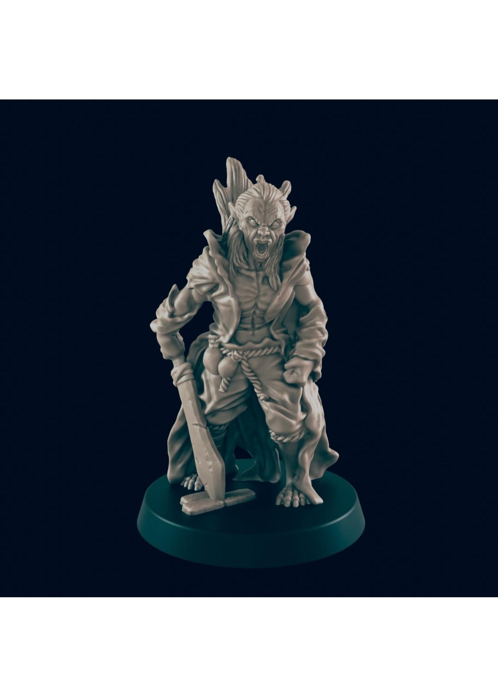 3D Printed Miniature - Vampire Thrall 2 - Dungeons & Dragons - Beasts and Baddies KS