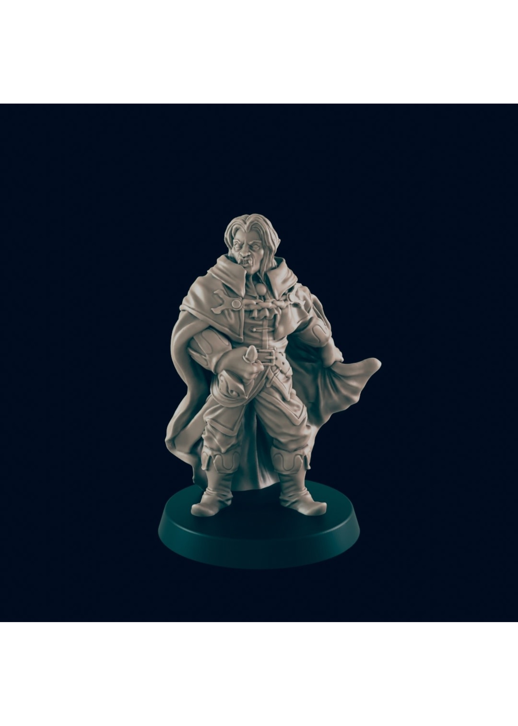 3D Printed Miniature - Male Vampire - Dungeons & Dragons - Beasts and Baddies KS