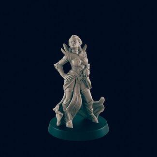 3D Printed Miniature - Female Vampire - Dungeons & Dragons - Beasts and Baddies KS