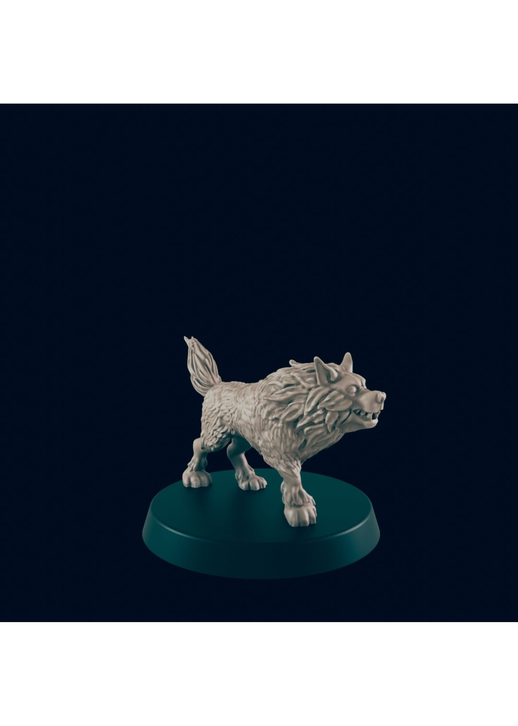3D Printed Miniature - Wolf 1 - Dungeons & Dragons - Beasts and Baddies KS