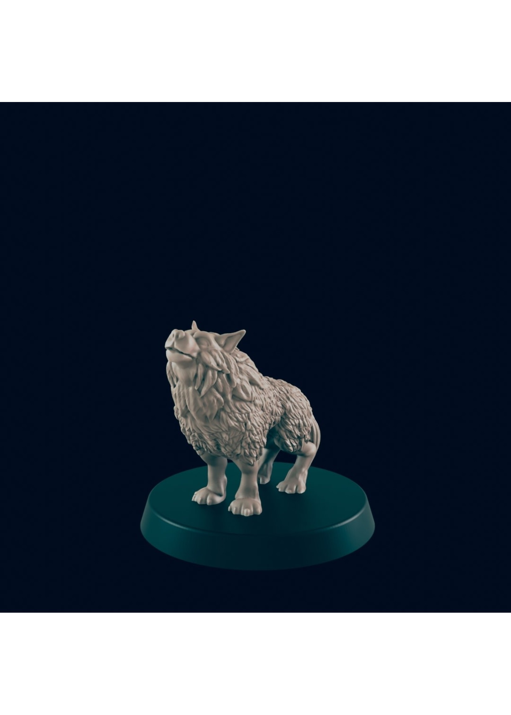 3D Printed Miniature - Wolf 2 - Dungeons & Dragons - Beasts and Baddies KS