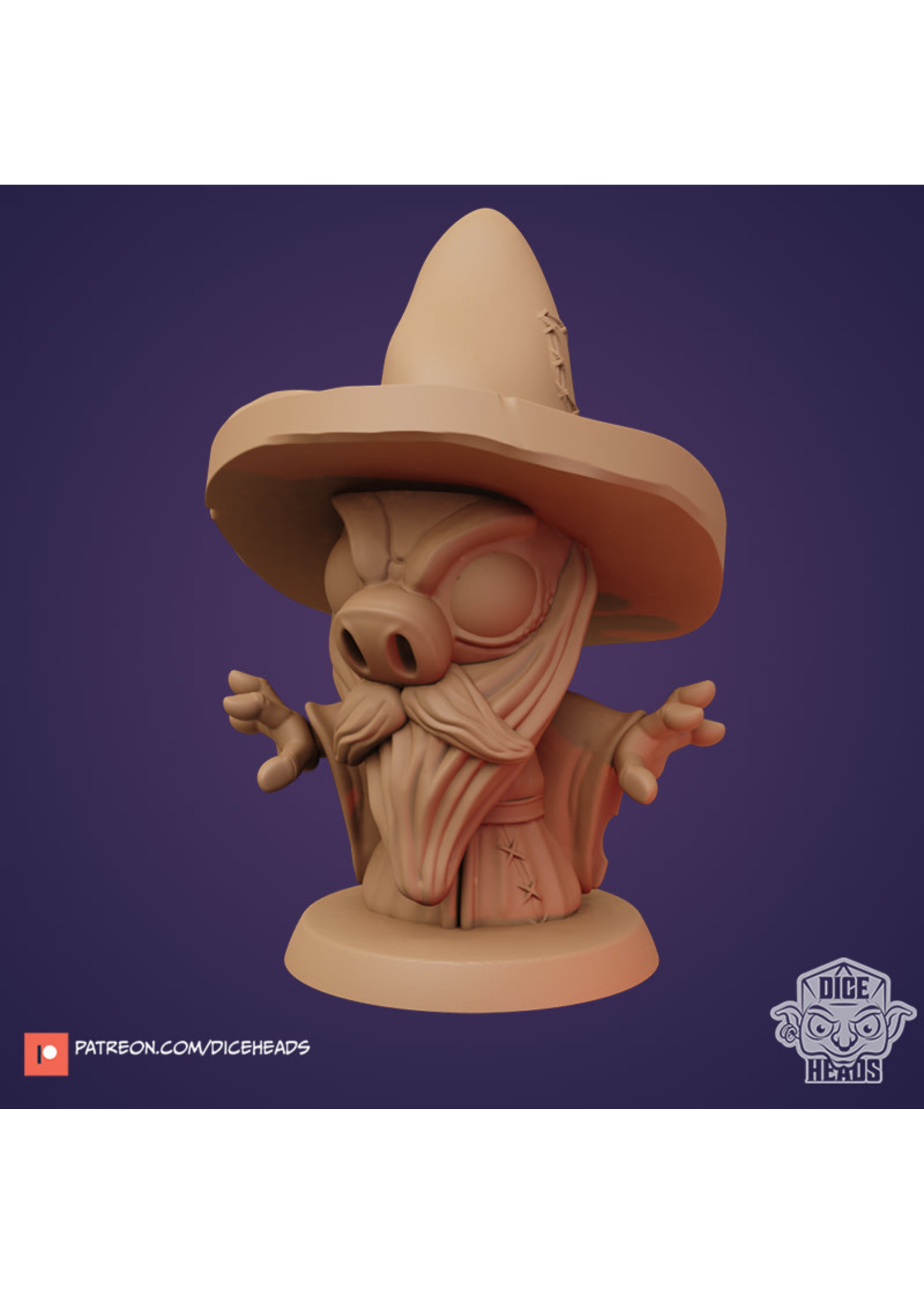 3D Printed Miniature - Duroc The Hedge Wizard - Dungeons & Dragons - Zoontalis KS