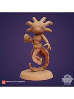 3D Printed Miniature - Axolotl Sorcerer - Dungeons & Dragons - Zoontalis KS