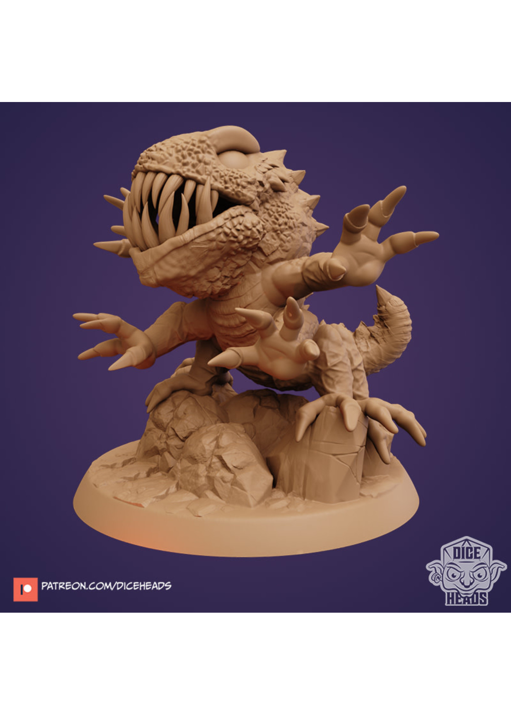 3D Printed Miniature - Bassilisk - Dungeons & Dragons - Zoontalis KS