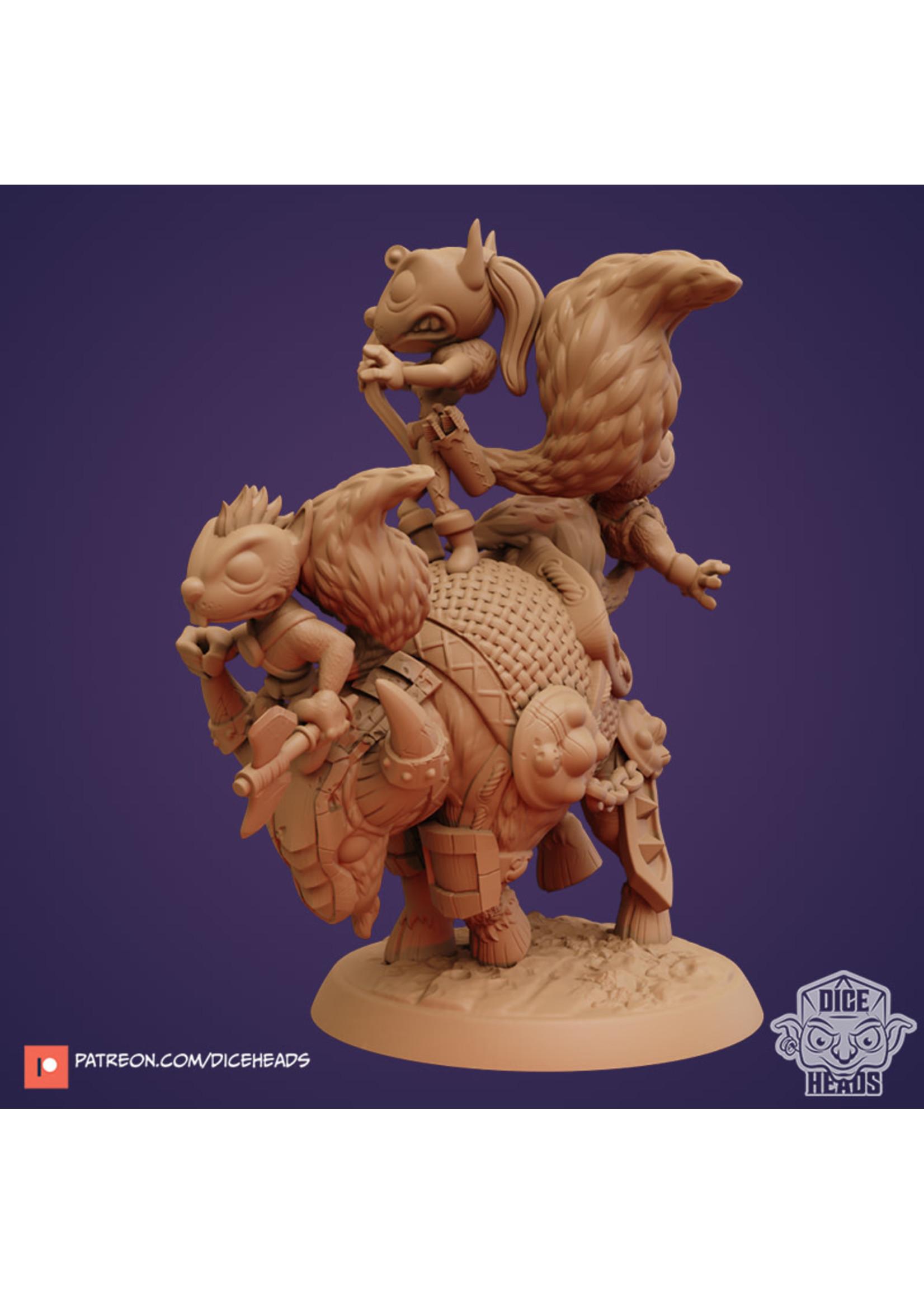 3D Printed Miniature - Bull Mount - Dungeons & Dragons - Zoontalis KS