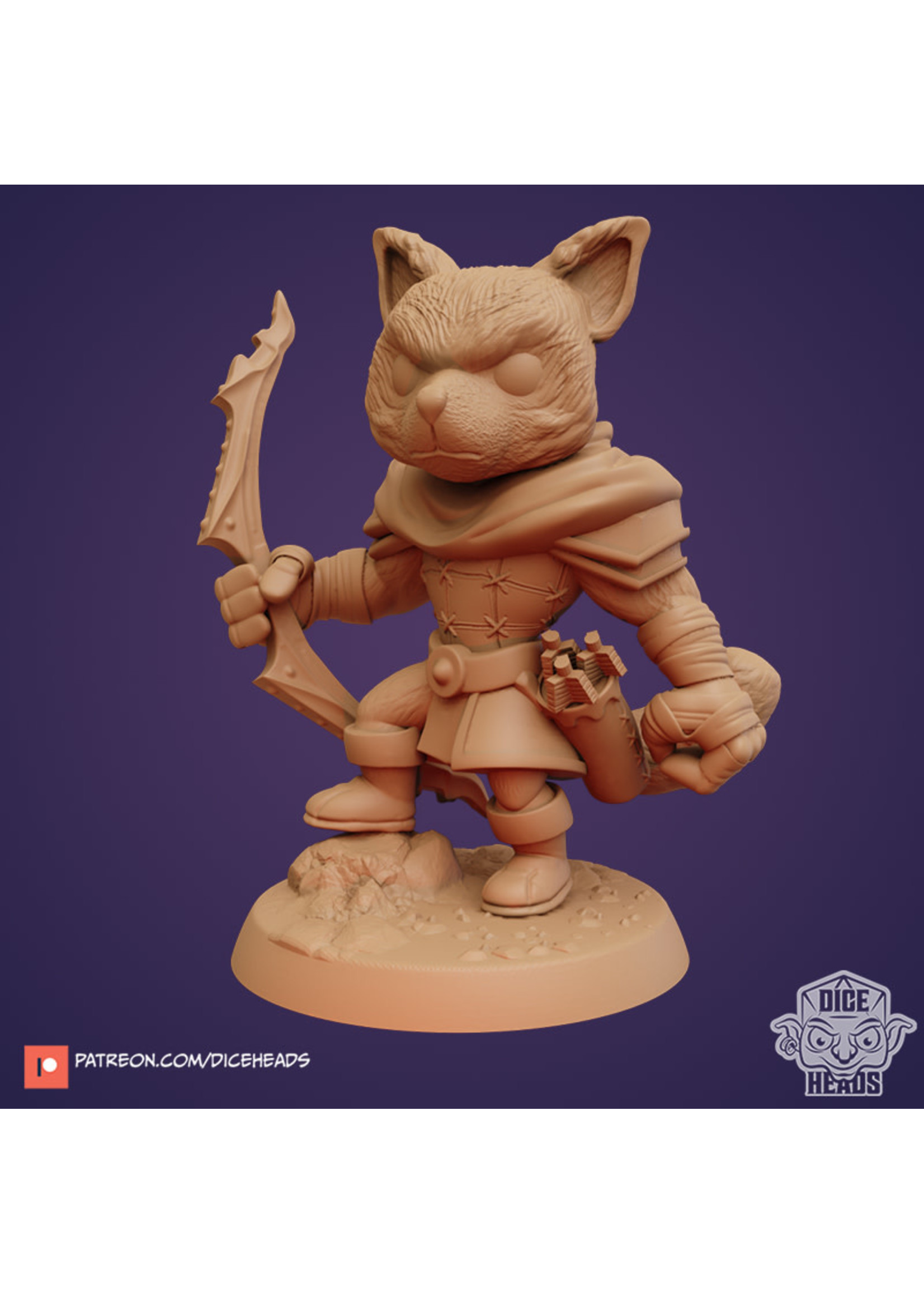 3D Printed Miniature - Dogfolk Ranger - Dungeons & Dragons - Zoontalis KS