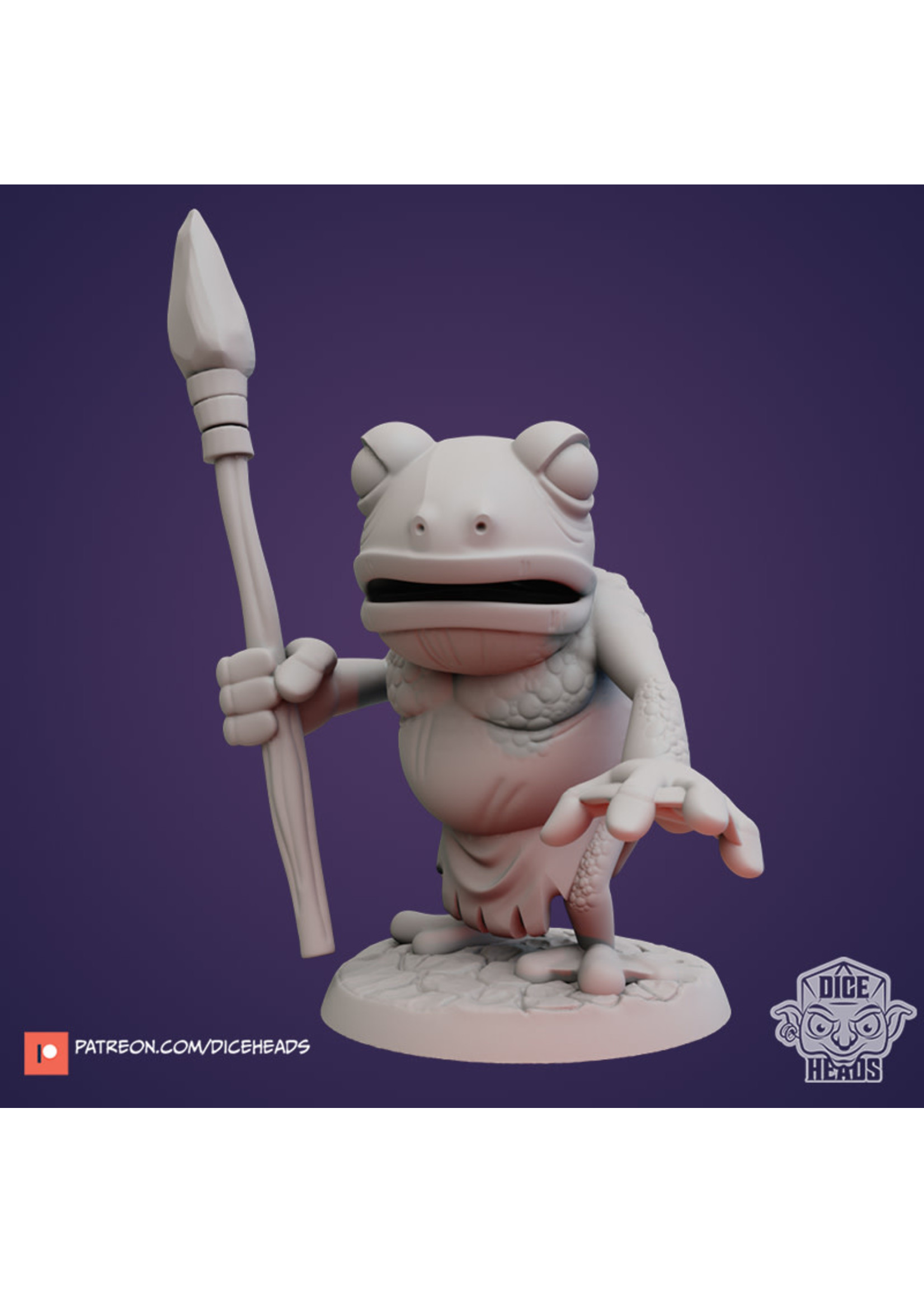 3D Printed Miniature - Frogfolk One - Dungeons & Dragons - Zoontalis KS