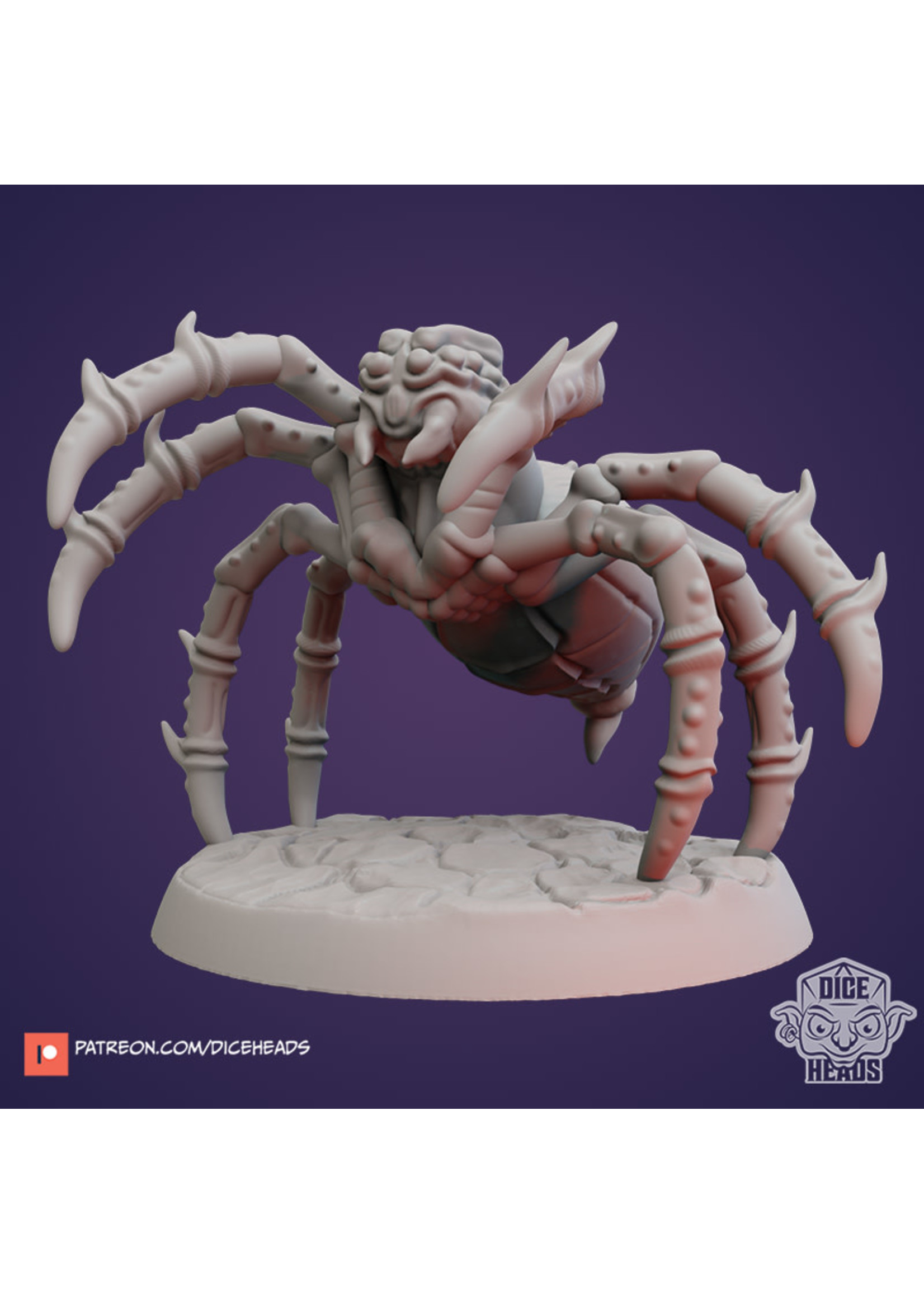 3D Printed Miniature - Giant Spider - Dungeons & Dragons - Zoontalis KS
