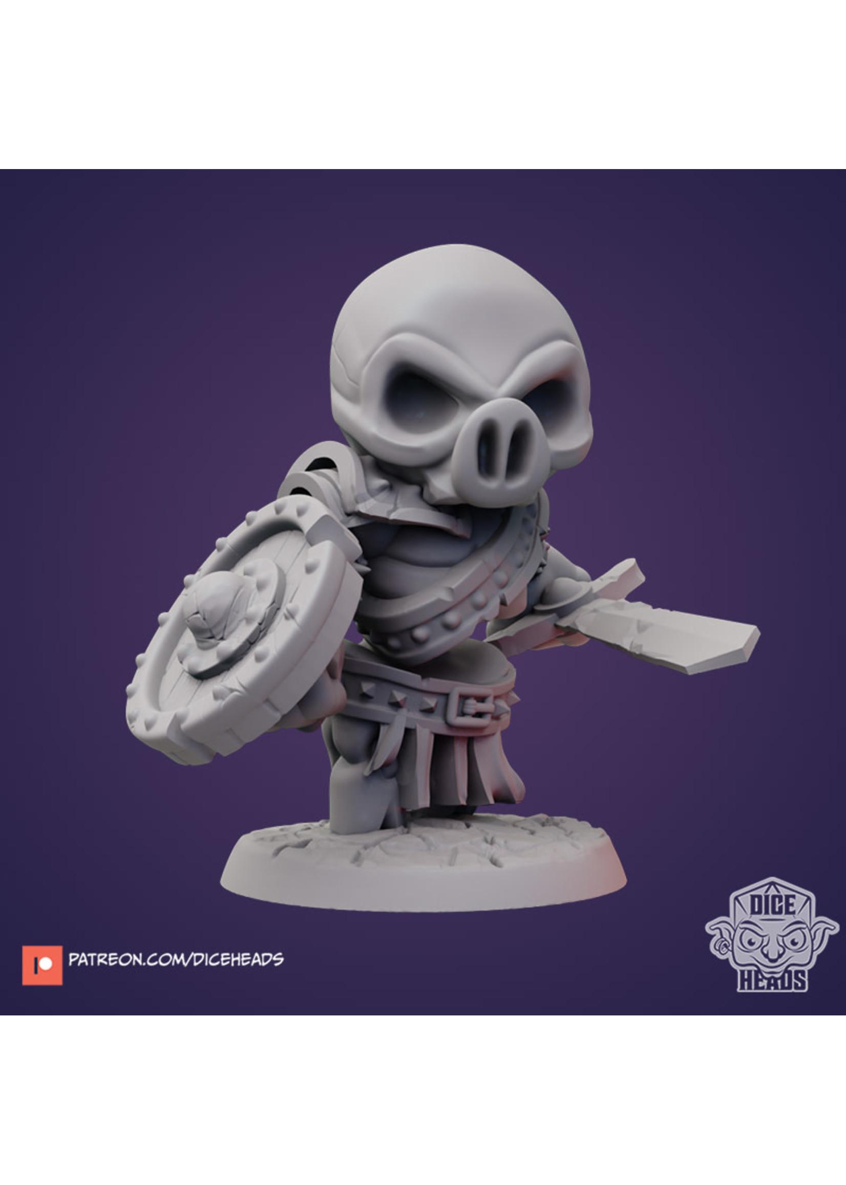3D Printed Miniature - Hog Skeleton - Dungeons & Dragons - Zoontalis KS