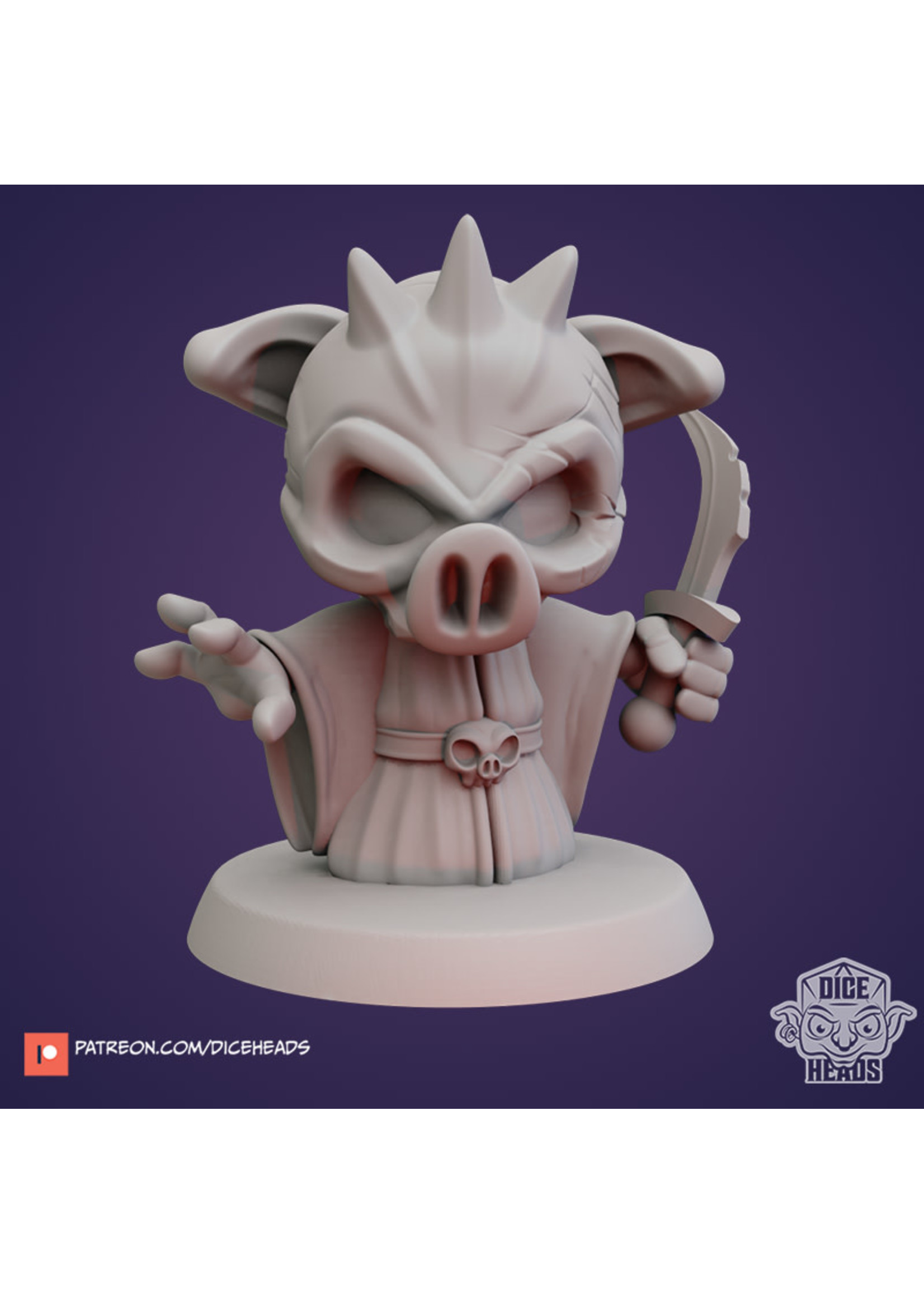 3D Printed Miniature - Cult Fanatic - Dungeons & Dragons - Zoontalis KS