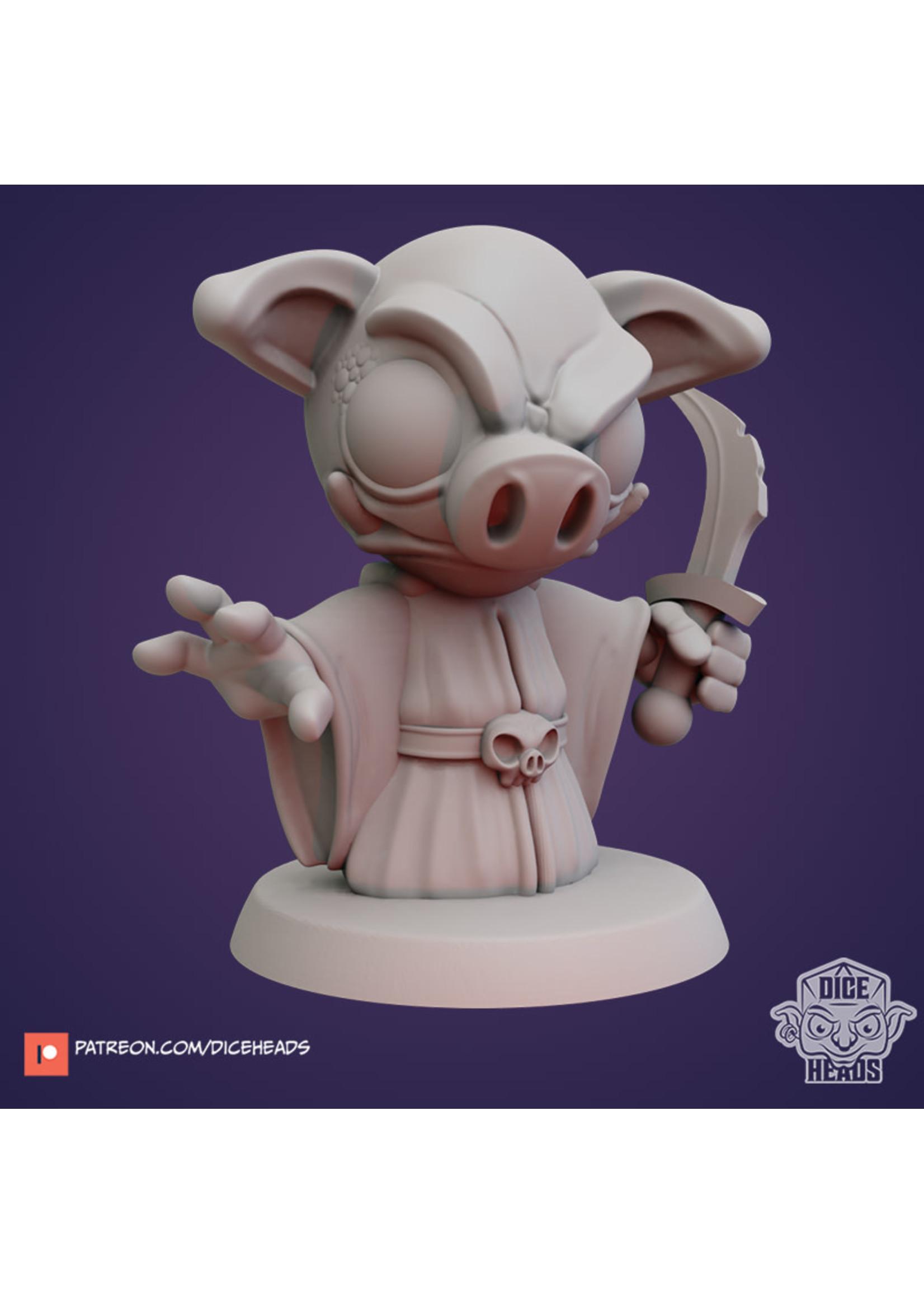 3D Printed Miniature - Hog Cultist - Dungeons & Dragons - Zoontalis KS