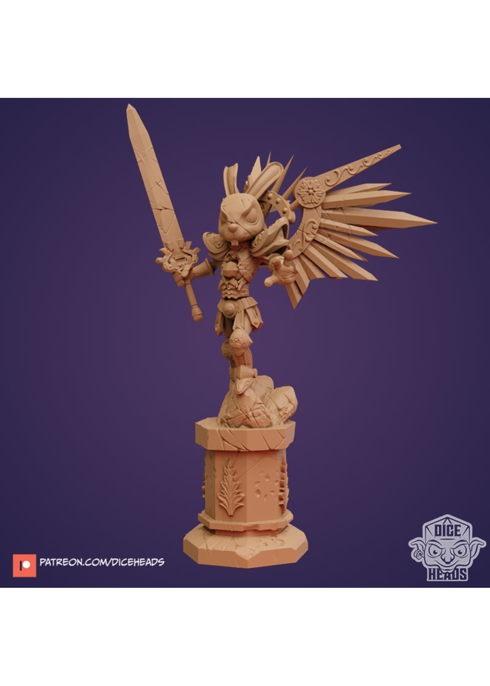 3D Printed Miniature - Broken Lapina with Wings - Dungeons & Dragons - Zoontalis KS