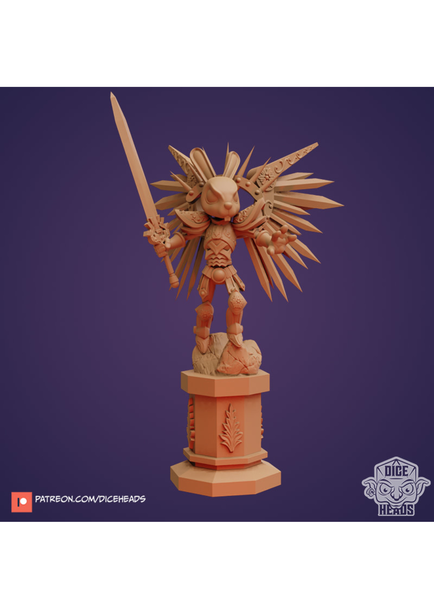 3D Printed Miniature - Lapina with Wings - Dungeons & Dragons - Zoontalis KS