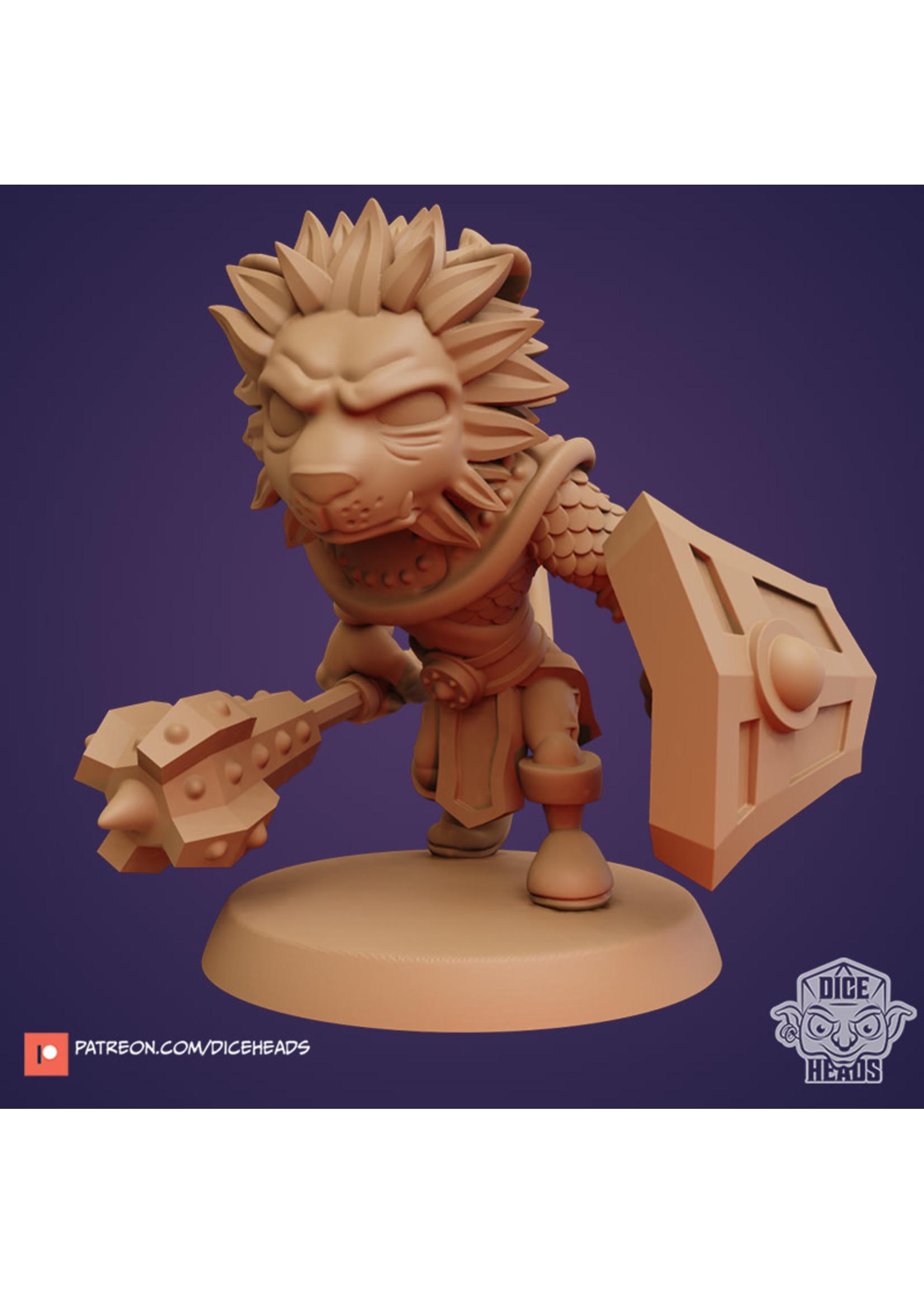 3D Printed Miniature - Lion Clerc - Dungeons & Dragons - Zoontalis KS