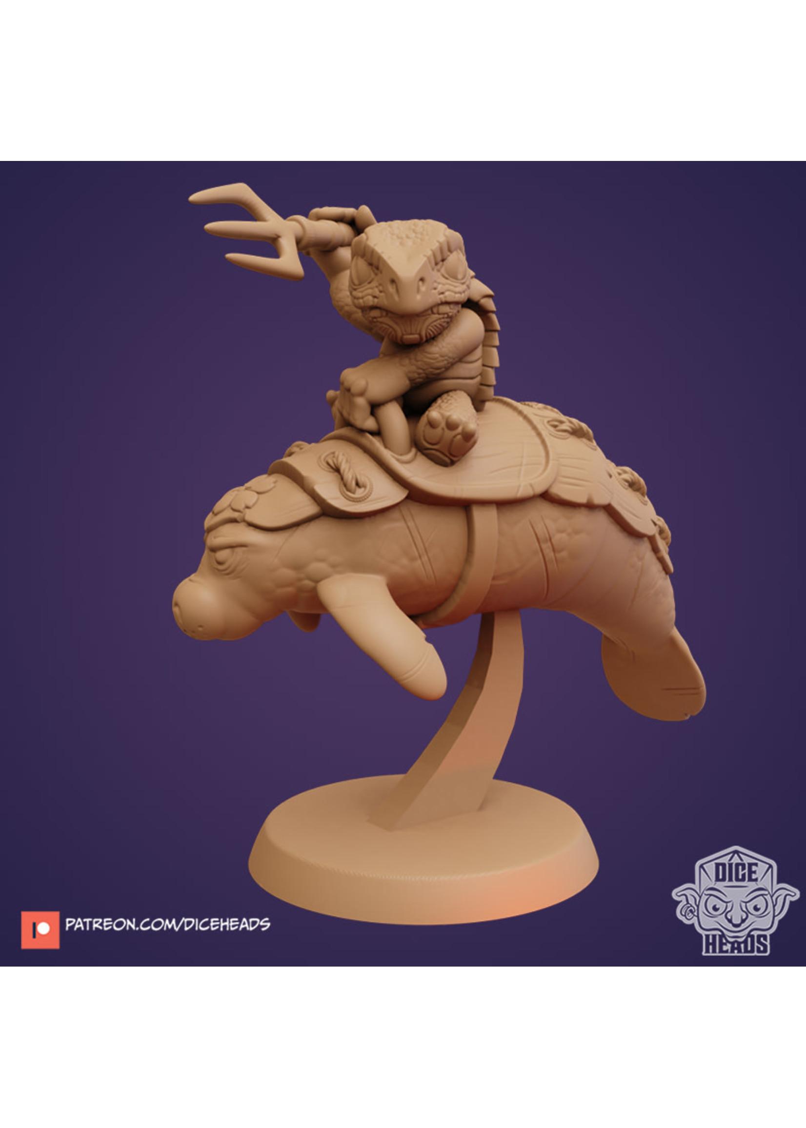 3D Printed Miniature - Manatee Mount - Dungeons & Dragons - Zoontalis KS