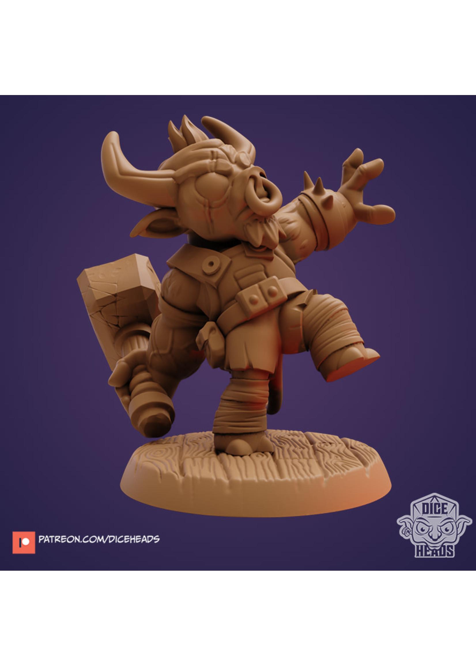 3D Printed Miniature - Torex Minotaur Barbarian - Dungeons & Dragons - Zoontalis KS