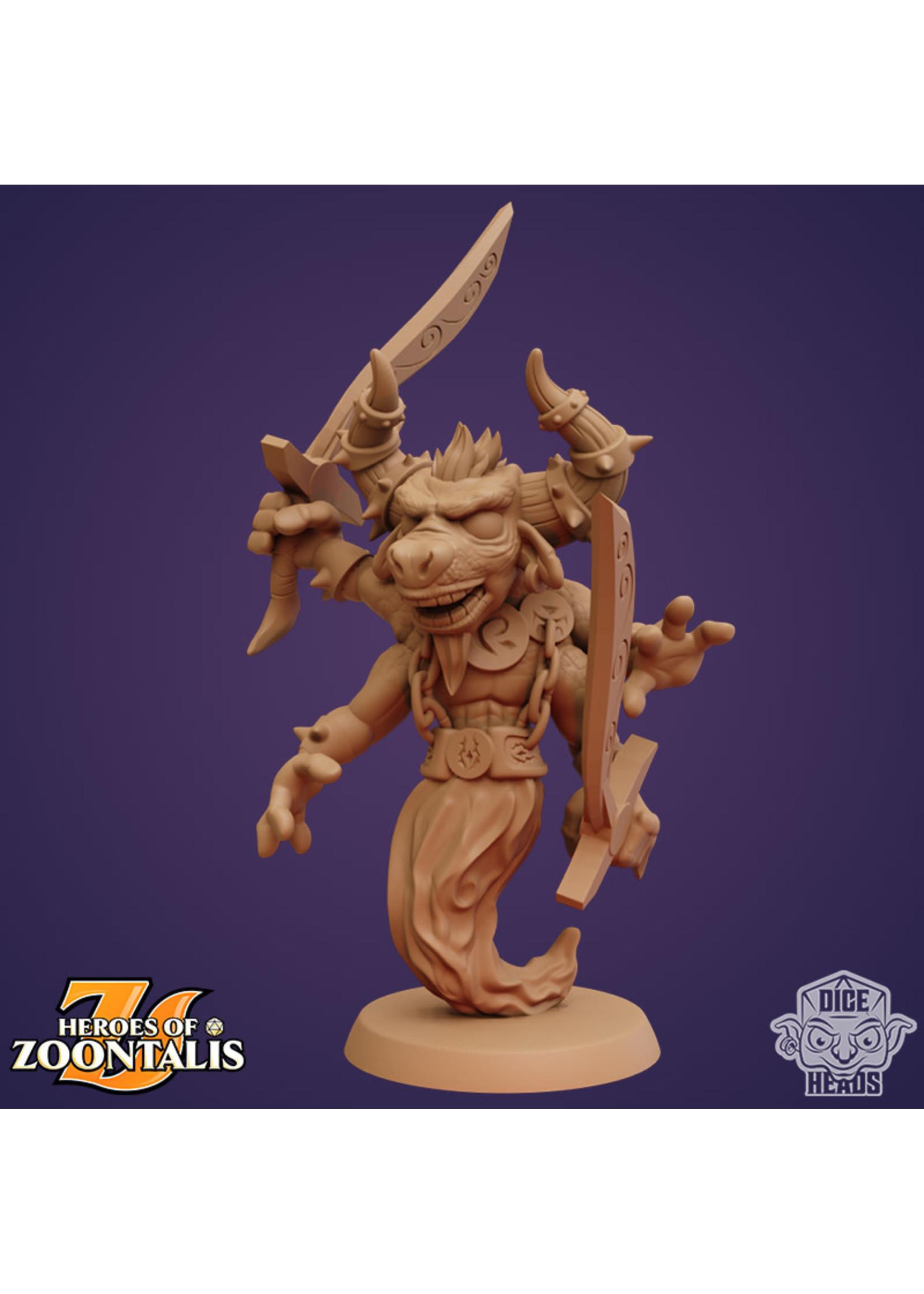 3D Printed Miniature - Minotaur Djinn - Dungeons & Dragons - Zoontalis KS