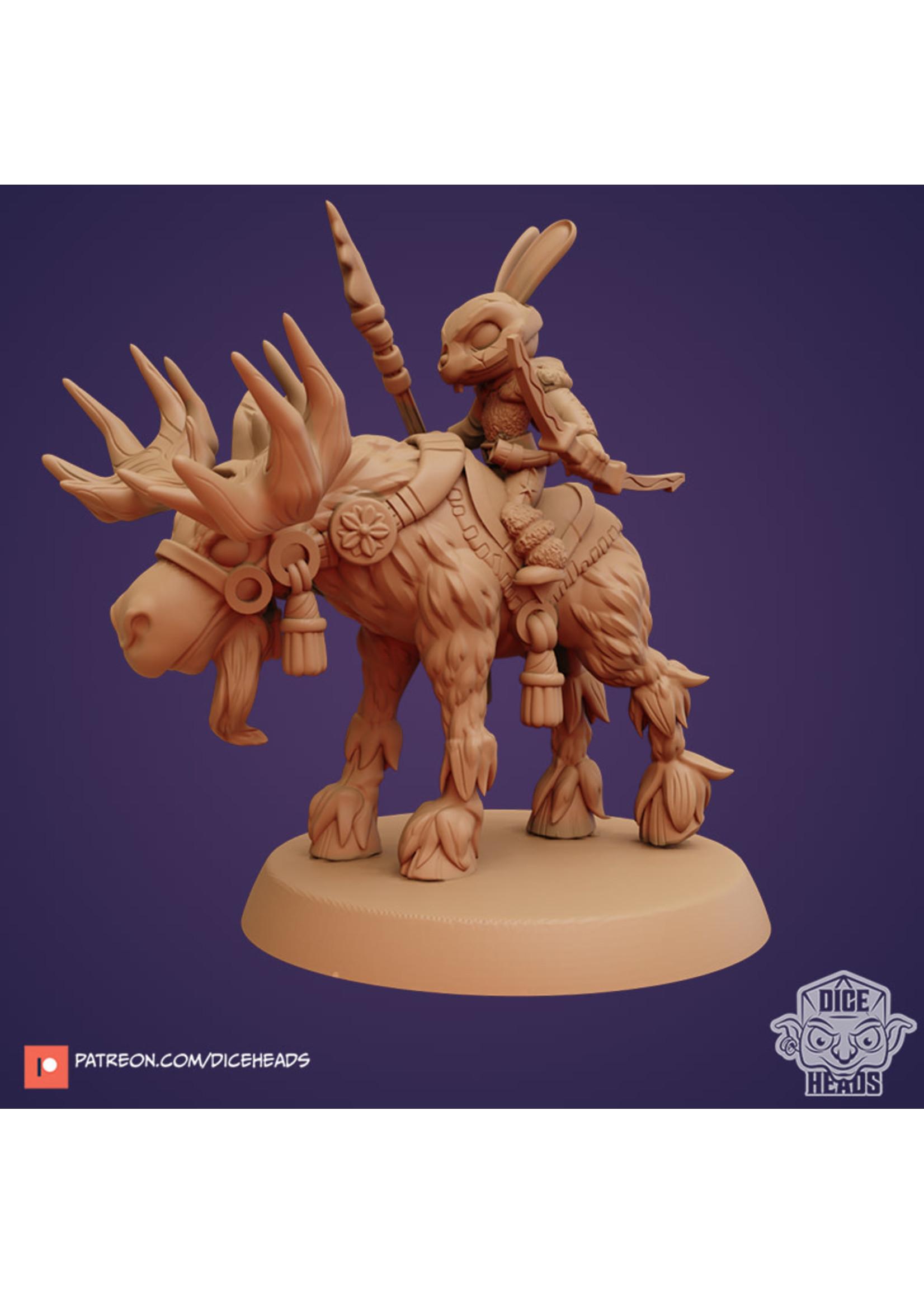 3D Printed Miniature - Moose Mount - Dungeons & Dragons - Zoontalis KS