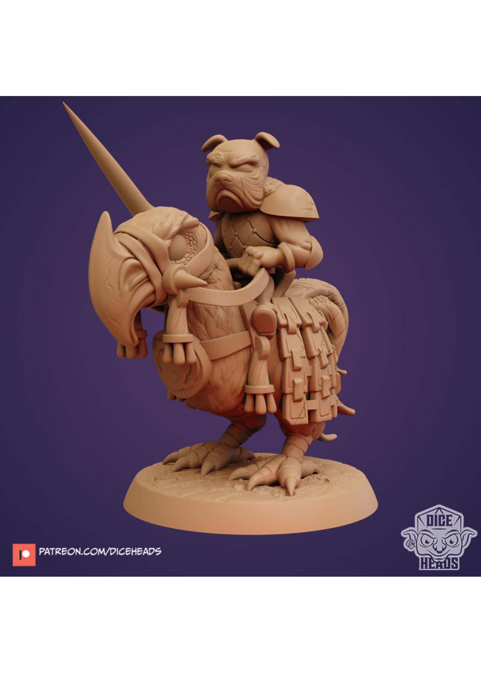 3D Printed Miniature - Axe Beak Mount - Dungeons & Dragons - Zoontalis KS