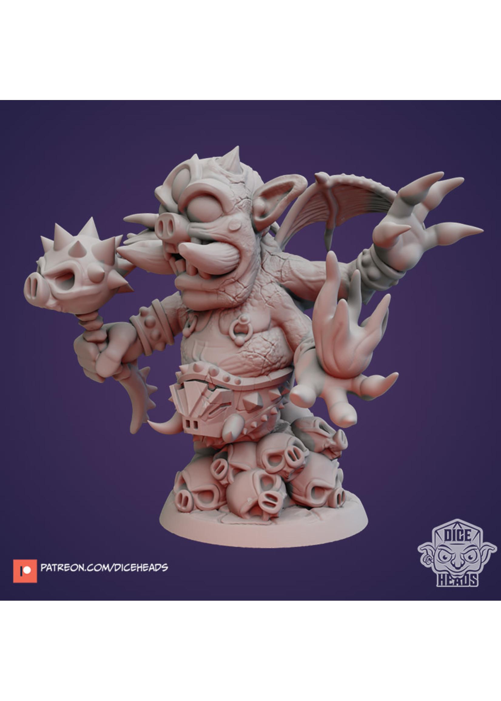 3D Printed Miniature - Porcus - Dungeons & Dragons - Zoontalis KS