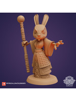 3D Printed Miniature - Shintoa Graceleeper (Rabbit Wizard) - Dungeons & Dragons - Zoontalis KS