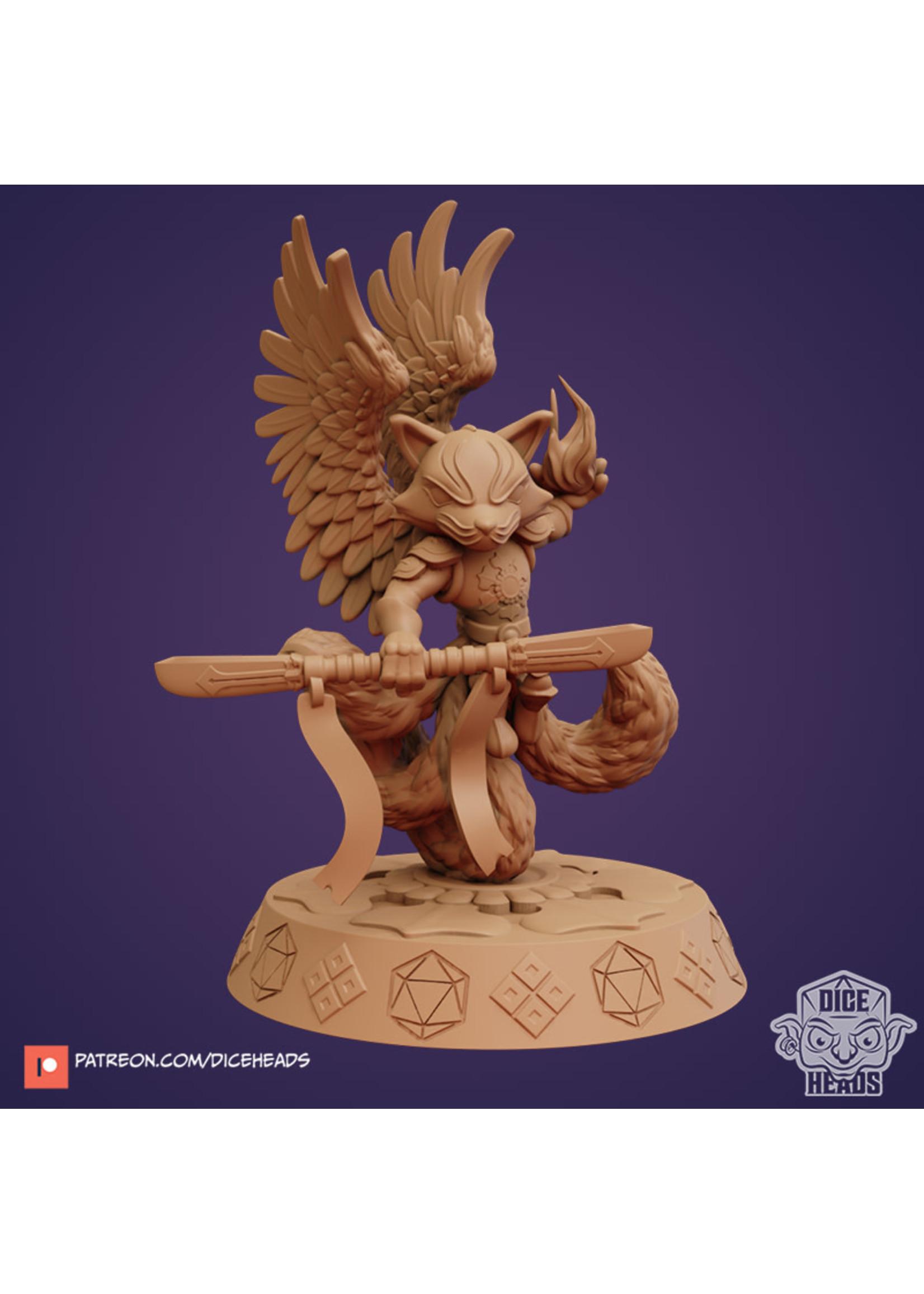 3D Printed Miniature - Reyn Kitsune God - Dungeons & Dragons - Zoontalis KS