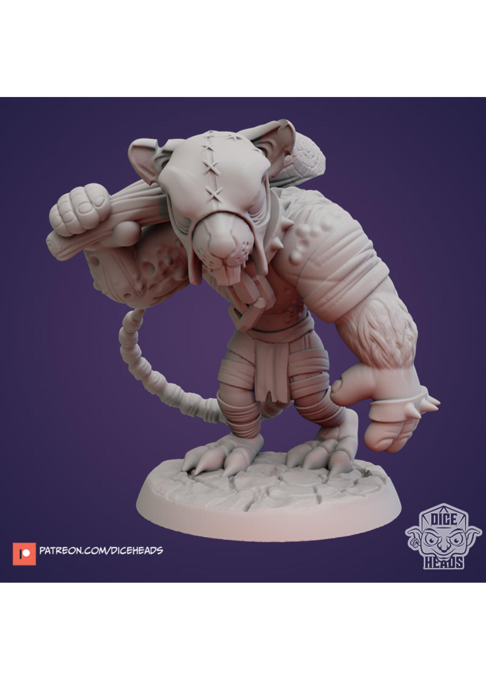 3D Printed Miniature - Ratfolk Thug - Dungeons & Dragons - Zoontalis KS