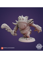 3D Printed Miniature - Toad Warrior Two - Dungeons & Dragons - Zoontalis KS