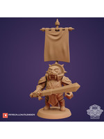 3D Printed Miniature - Winstable St.Proudhorn(Walrus Paladin) - Dungeons & Dragons - Zoontalis KS