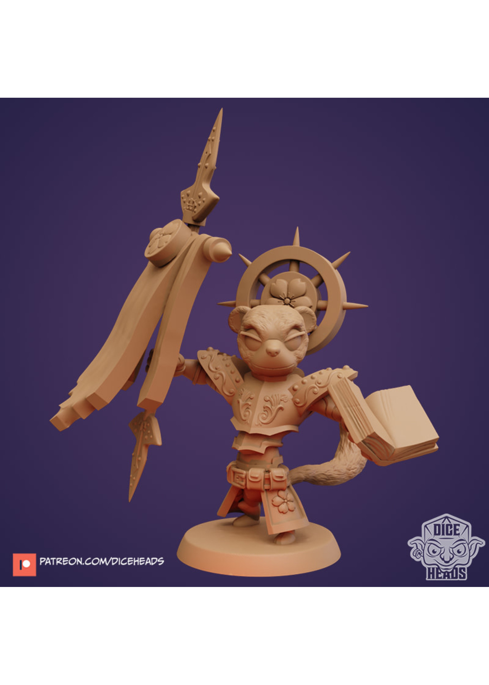 3D Printed Miniature - Weasel Paladin - Dungeons & Dragons - Zoontalis KS