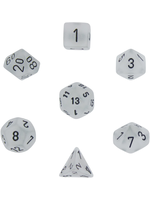 Gemini Polyhedral 7-Die Sets - Frosted™ Clear w/black