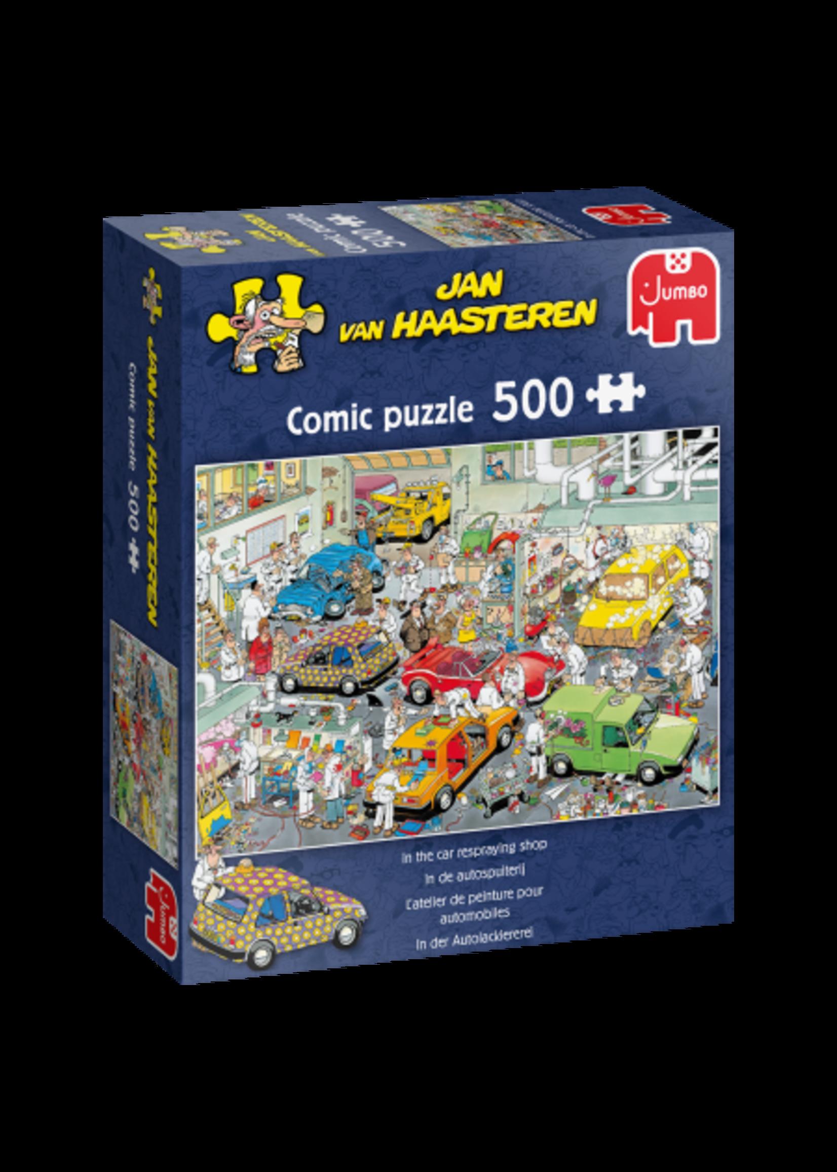 In de Autospuiterij - Jan van Haasteren (500)