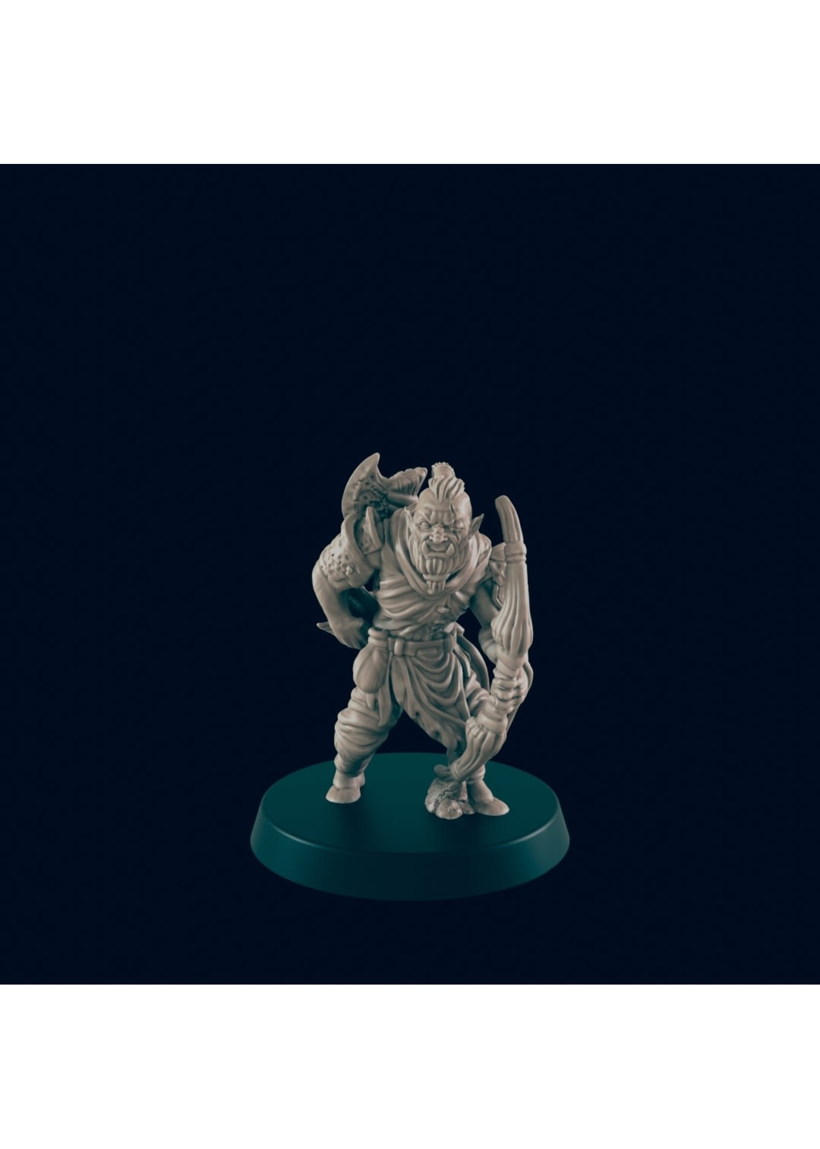 3D Printed Miniature - Orc Archer  - Dungeons & Dragons - Beasts and Baddies